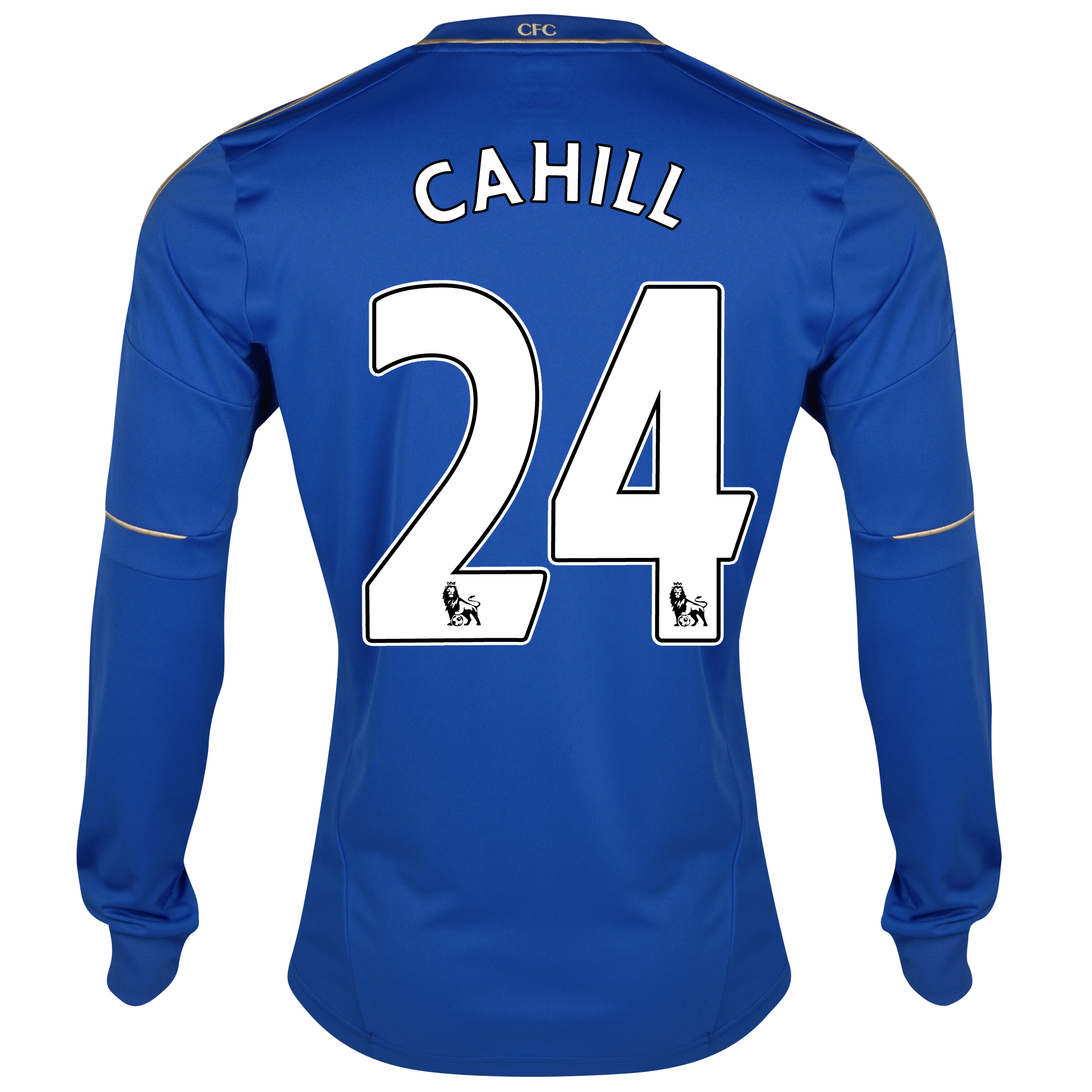 Chelsea Home Shirt 2012/13 - Long Sleeved with Cahill 24 printing