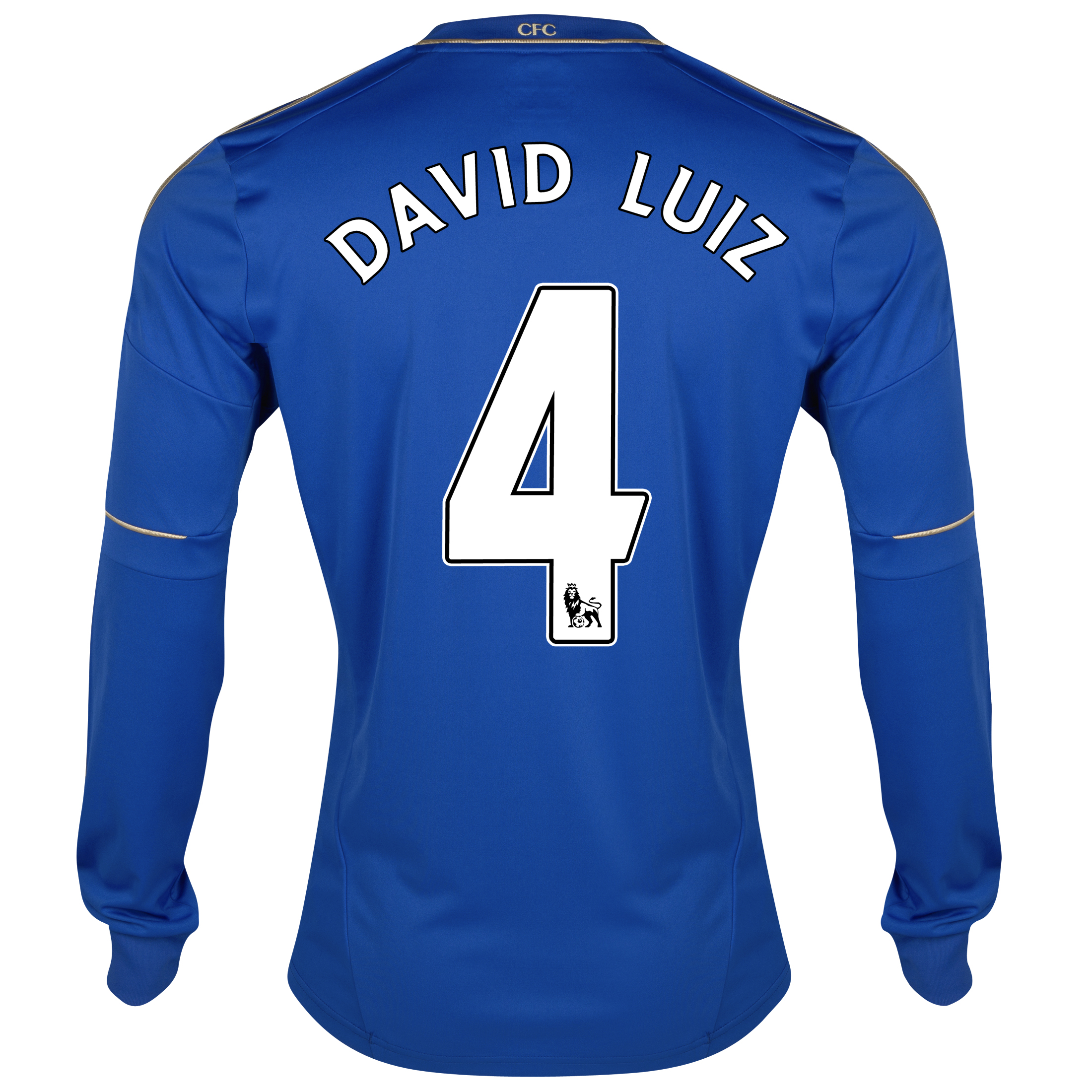 Chelsea Home Shirt 2012/13 - Long Sleeved - Youths with David Luiz 4 printing