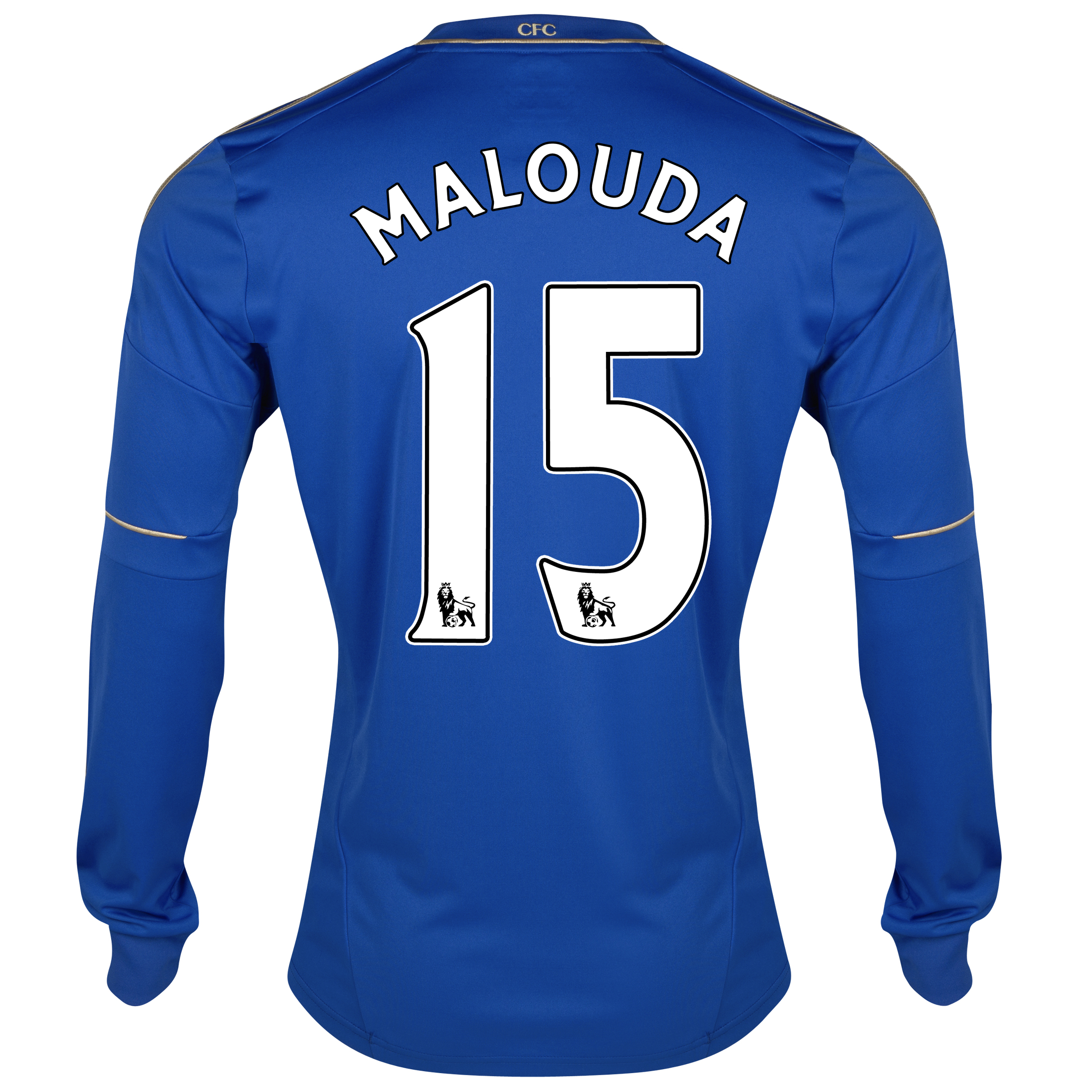 Chelsea Home Shirt 2012/13 - Long Sleeved - Youths with Malouda 15 printing