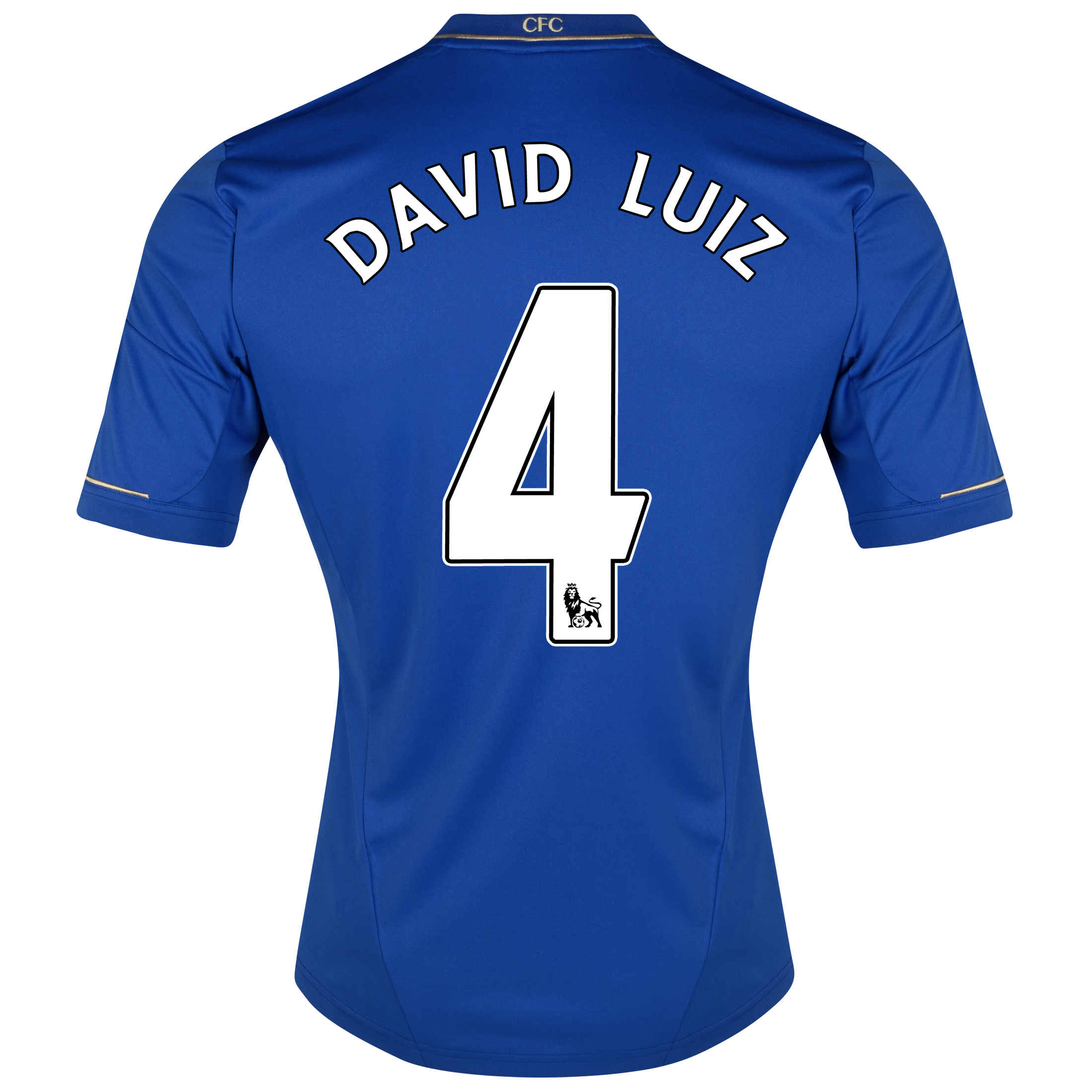 Chelsea Home Shirt 2012/13 - Outsize with David Luiz 4 printing