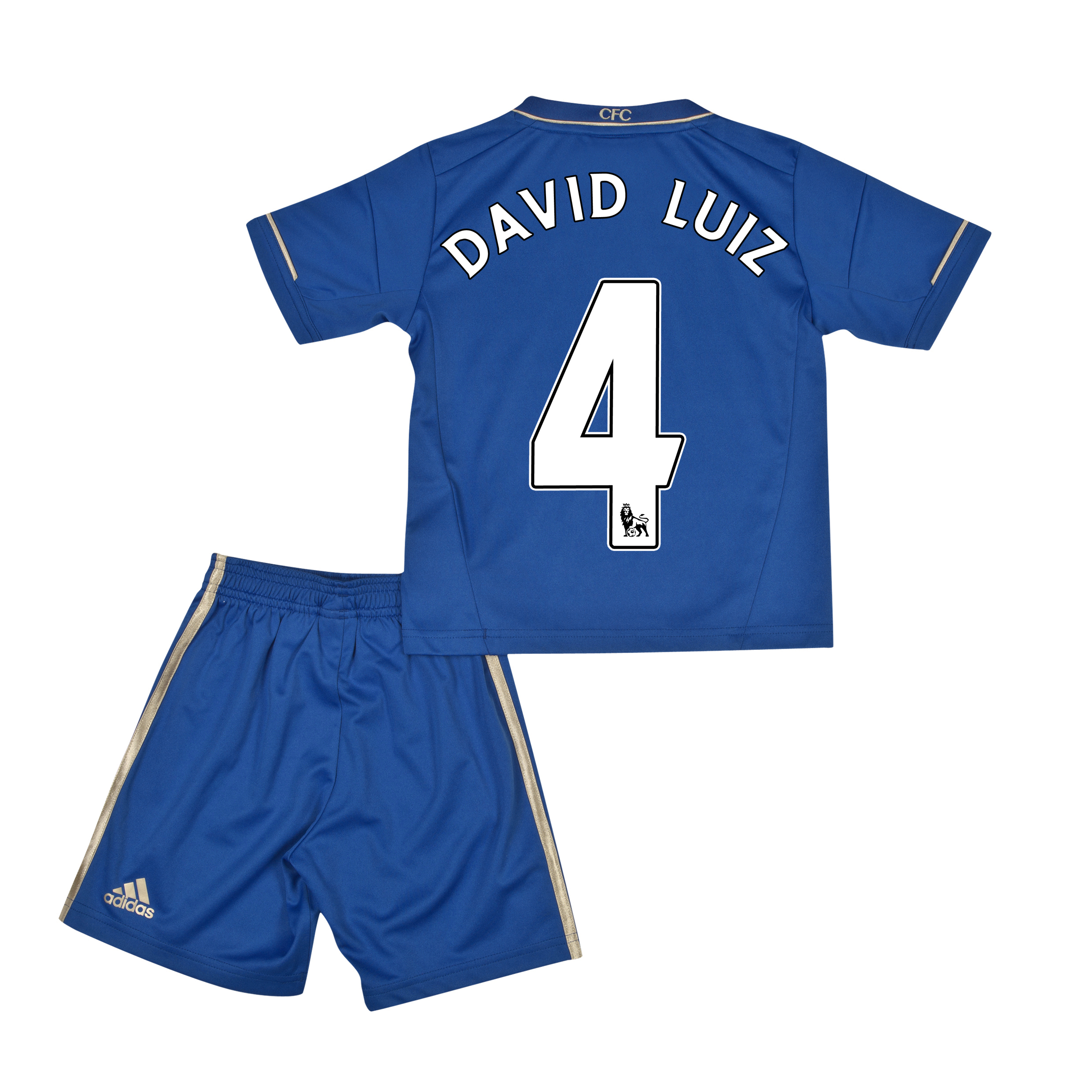 Chelsea Home Mini Kit 2012/13 with David Luiz 4 printing
