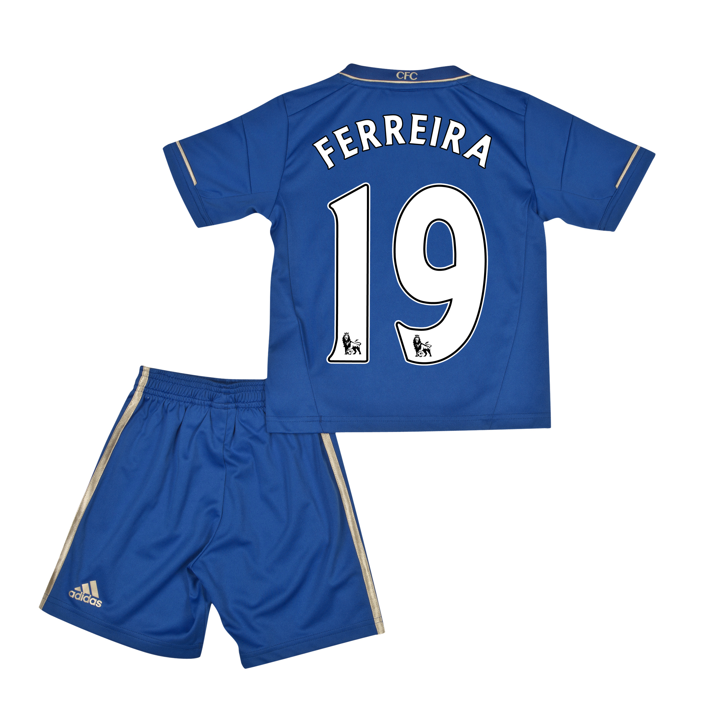 Chelsea Home Mini Kit 2012/13 with Ferreira 19 printing