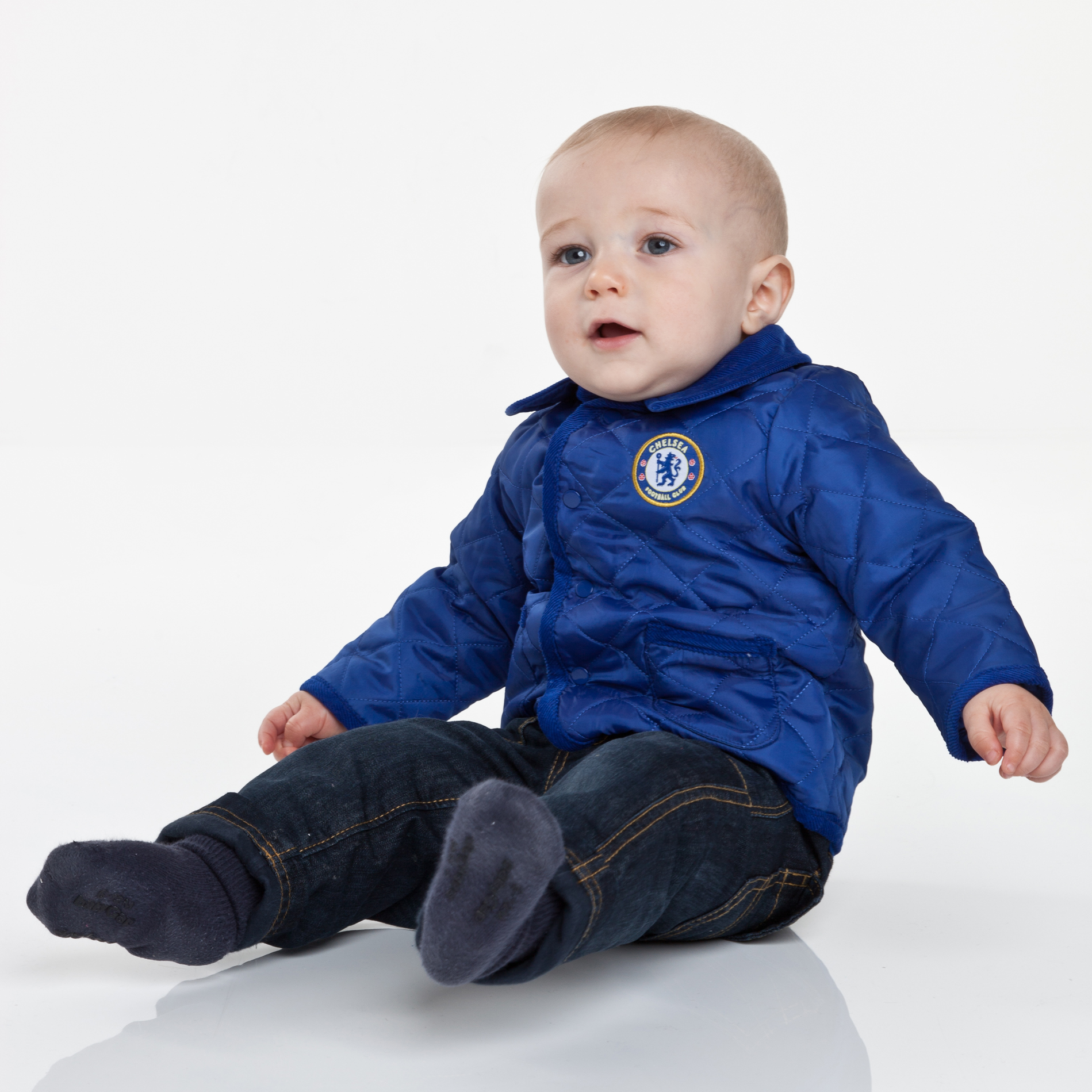Chelsea Quilted Jacket - Navy - Baby Boys
