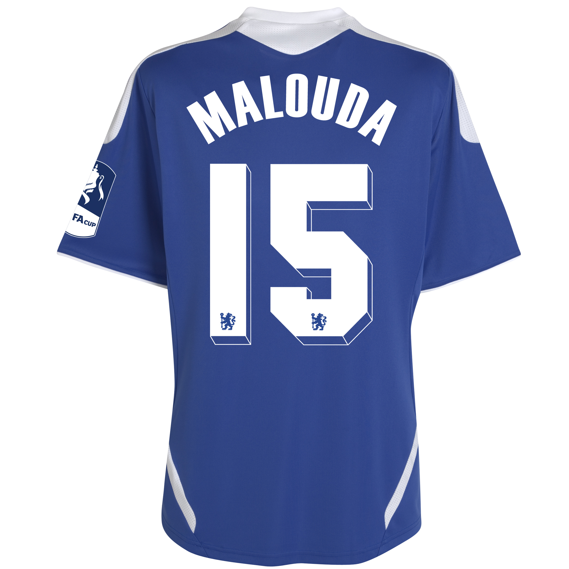 Chelsea Home FA Cup Shirt Including Embroidery 2011/12 - Kids with Malouda 15 printing