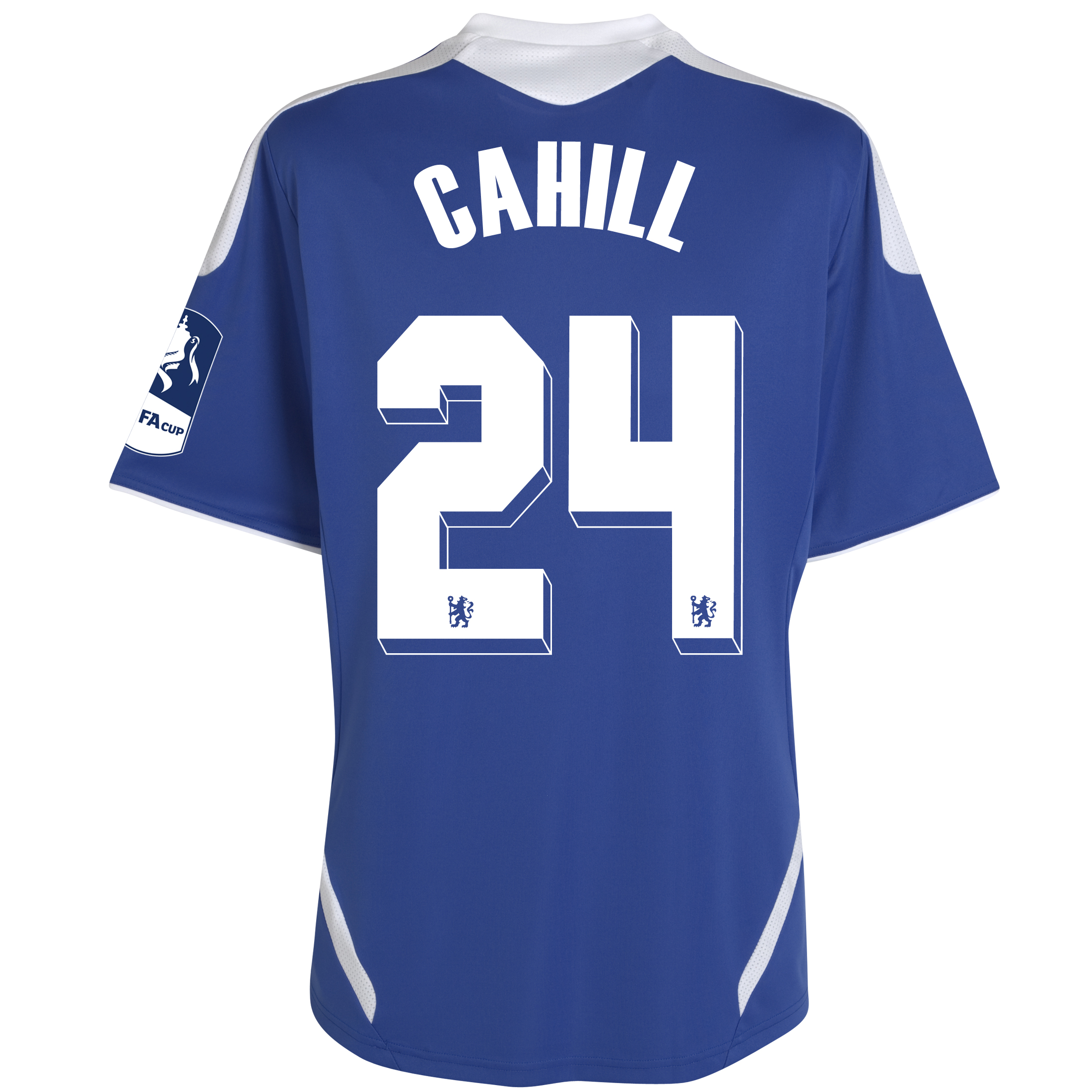 Chelsea Home FA Cup Shirt Including Embroidery 2011/12 - Kids with Cahill 24 printing