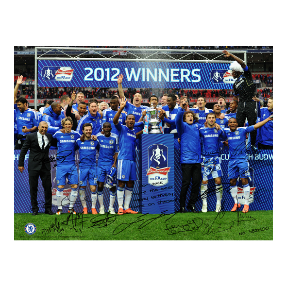 Chelsea Personalised Limited Edition The FA Cup Winners 1  - Poster