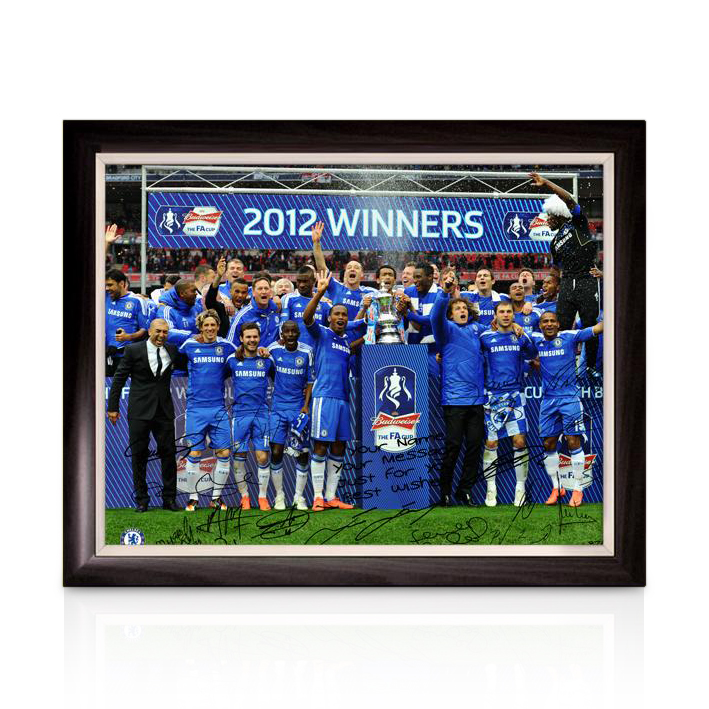 Chelsea Personalised Limited Edition  The FA Cup Winners 1 - Framed