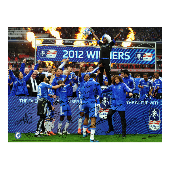 Chelsea Personalised Limited Edition The FA Cup Winners 3 - Poster