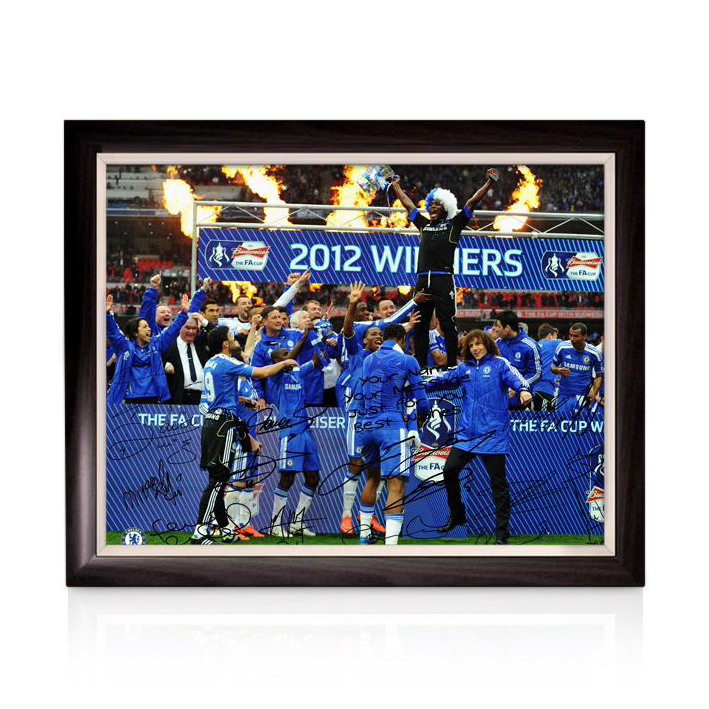 Chelsea Personalised Limited Edition The FA Cup Winners 3 - Framed