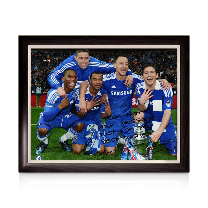 Chelsea Personalised The FA Cup Winners 6 -Framed