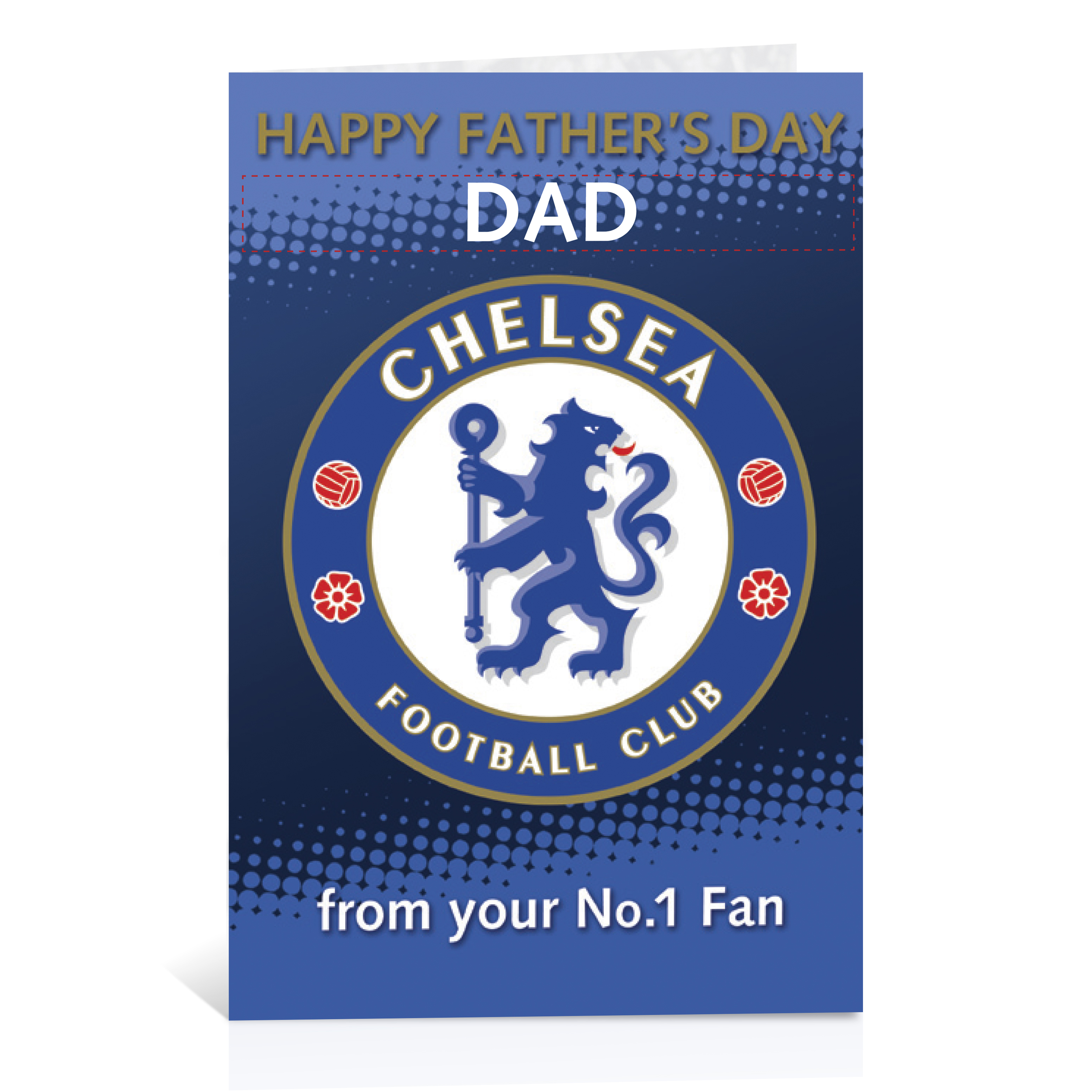 Chelsea Personalised Fathers Day Card