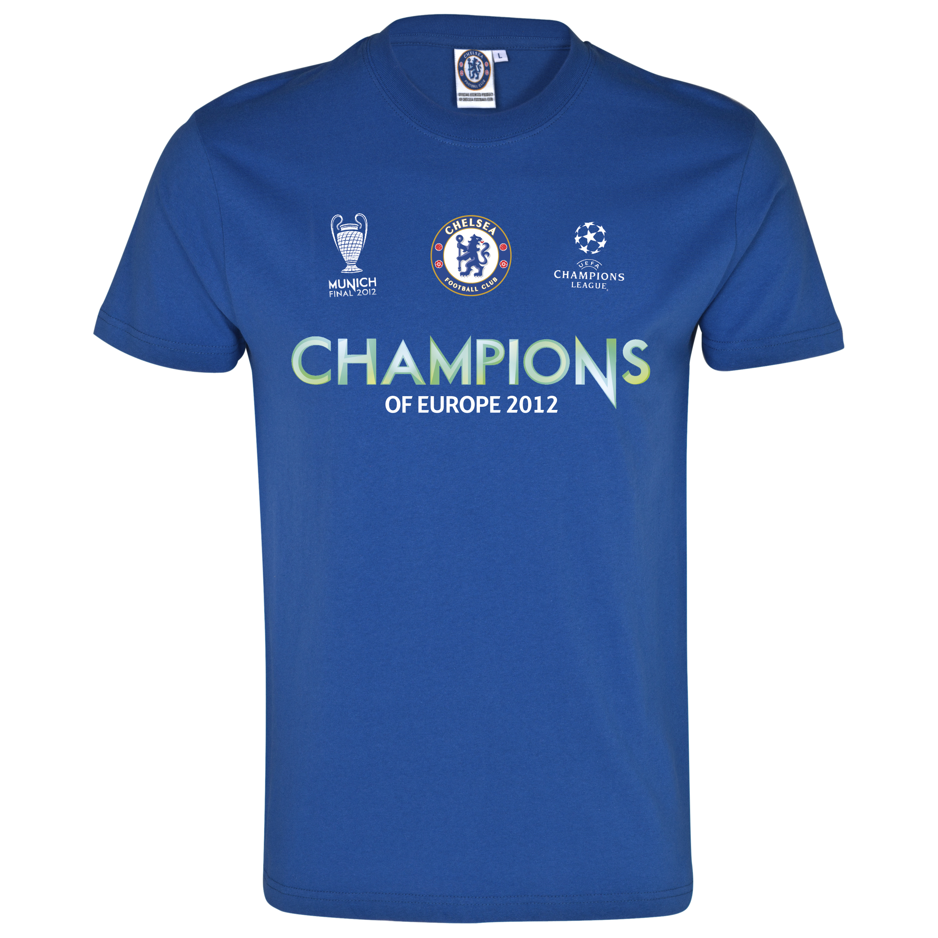 Chelsea UEFA Champions League Champions T-Shirt - Royal - Kids
