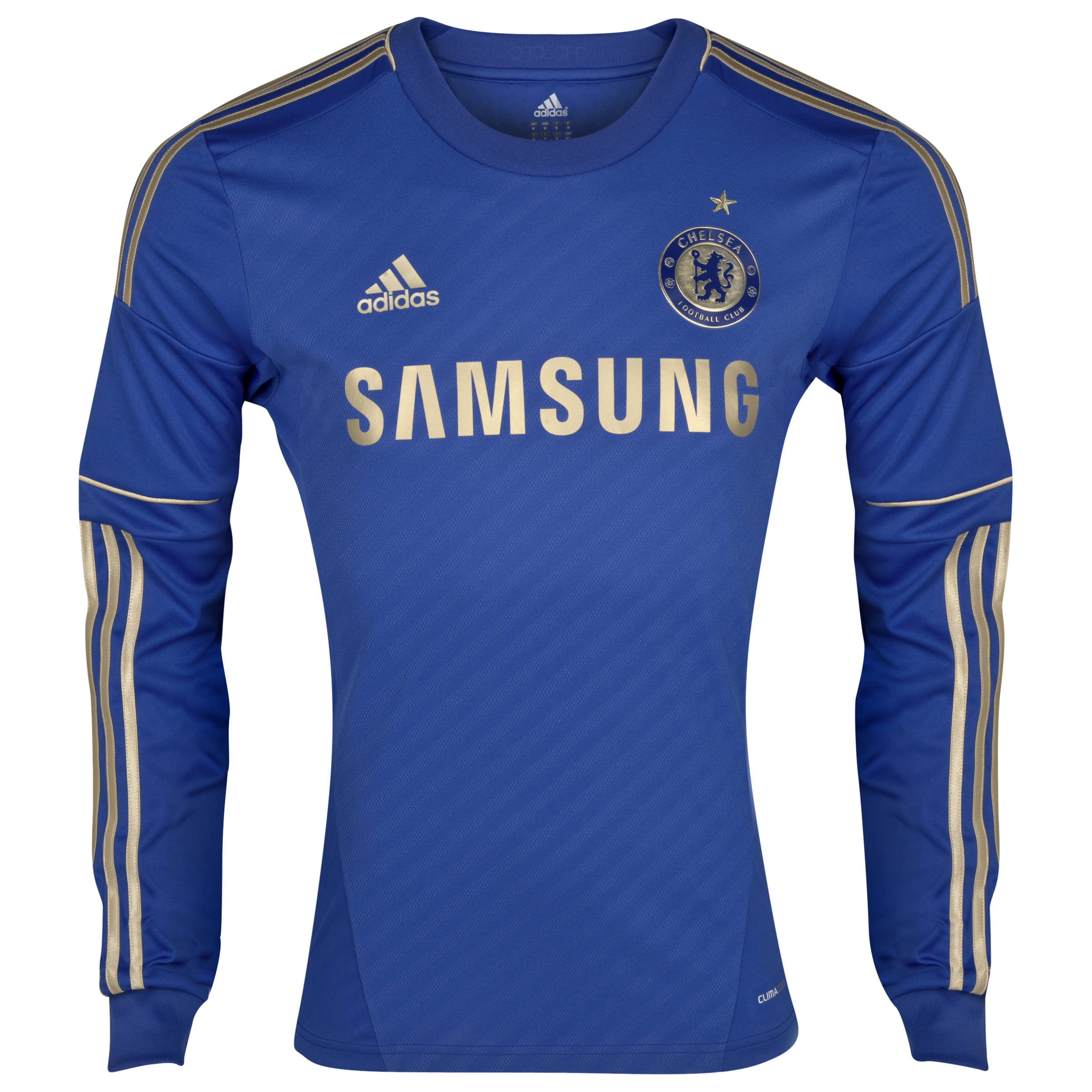 Chelsea Home Shirt 2012/13 - Long Sleeved Including Gold Star