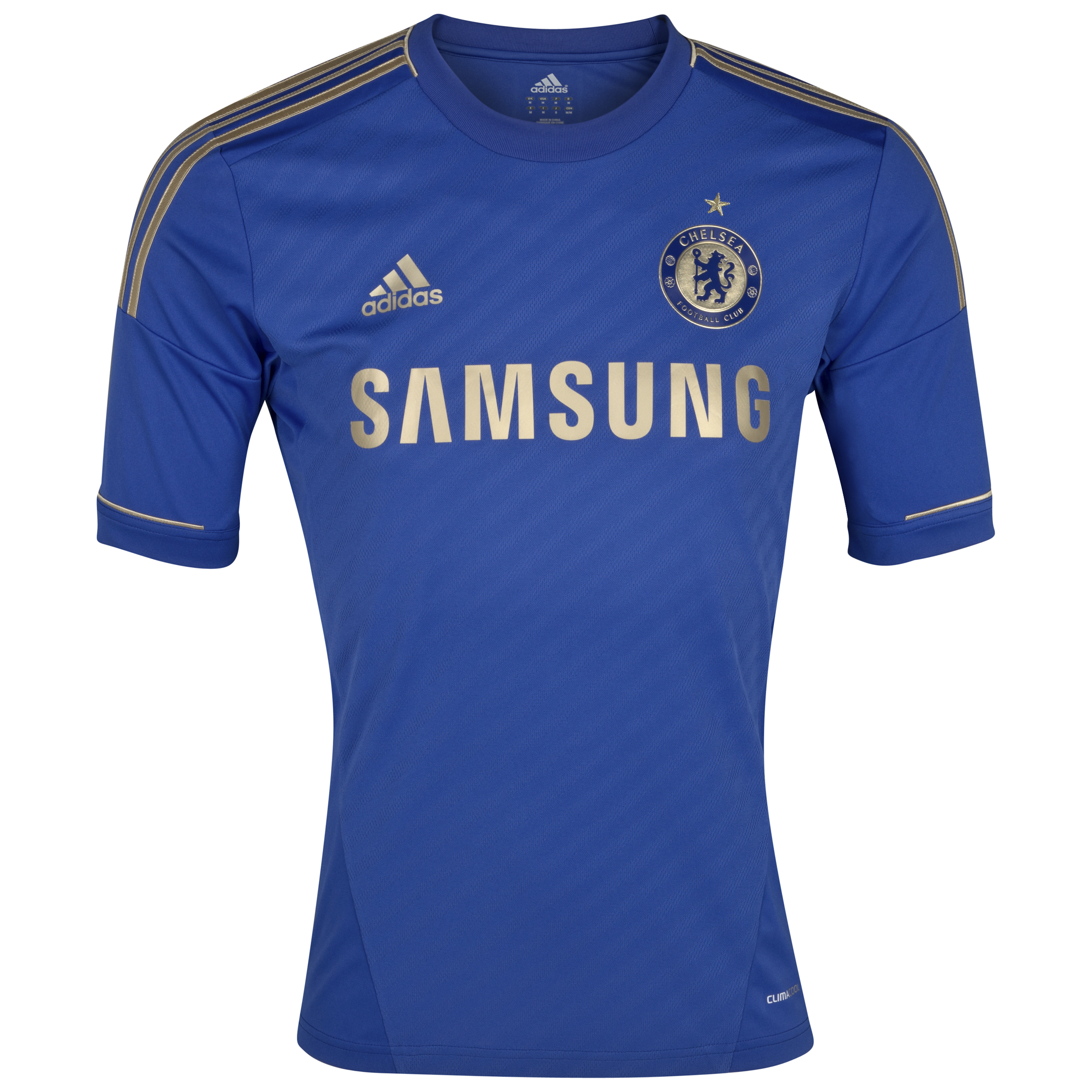 Chelsea Home Shirt 2012/13 - Outsize Including Gold Star
