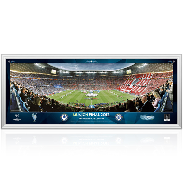 Chelsea Champions League Final Line Up Panoramic - 30 inch