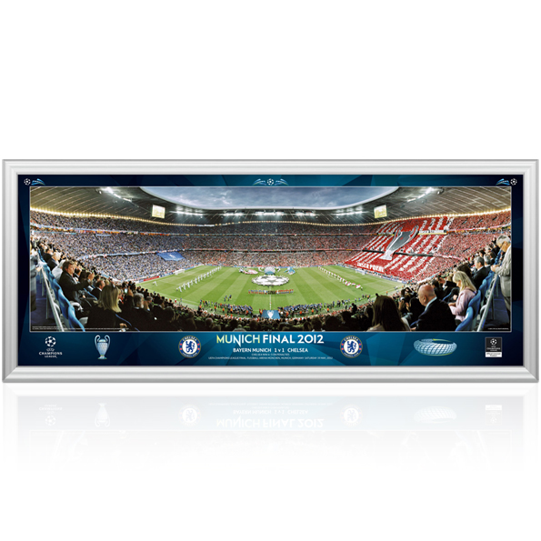 Chelsea Champions League Final Line Up Panoramic - 13 x 5 Inch