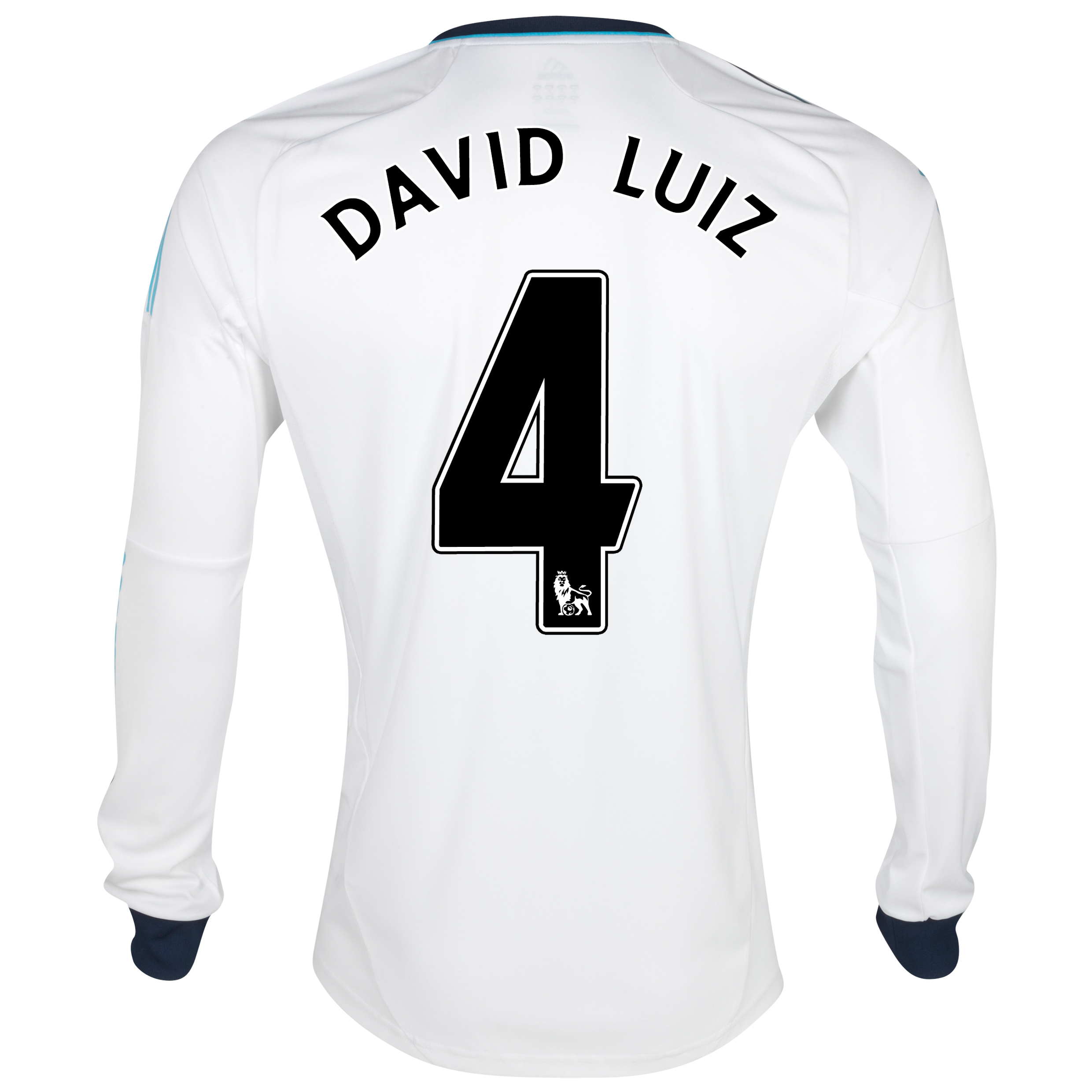 Chelsea Away Shirt 2012/13 - Long Sleeved with David Luiz 4 printing