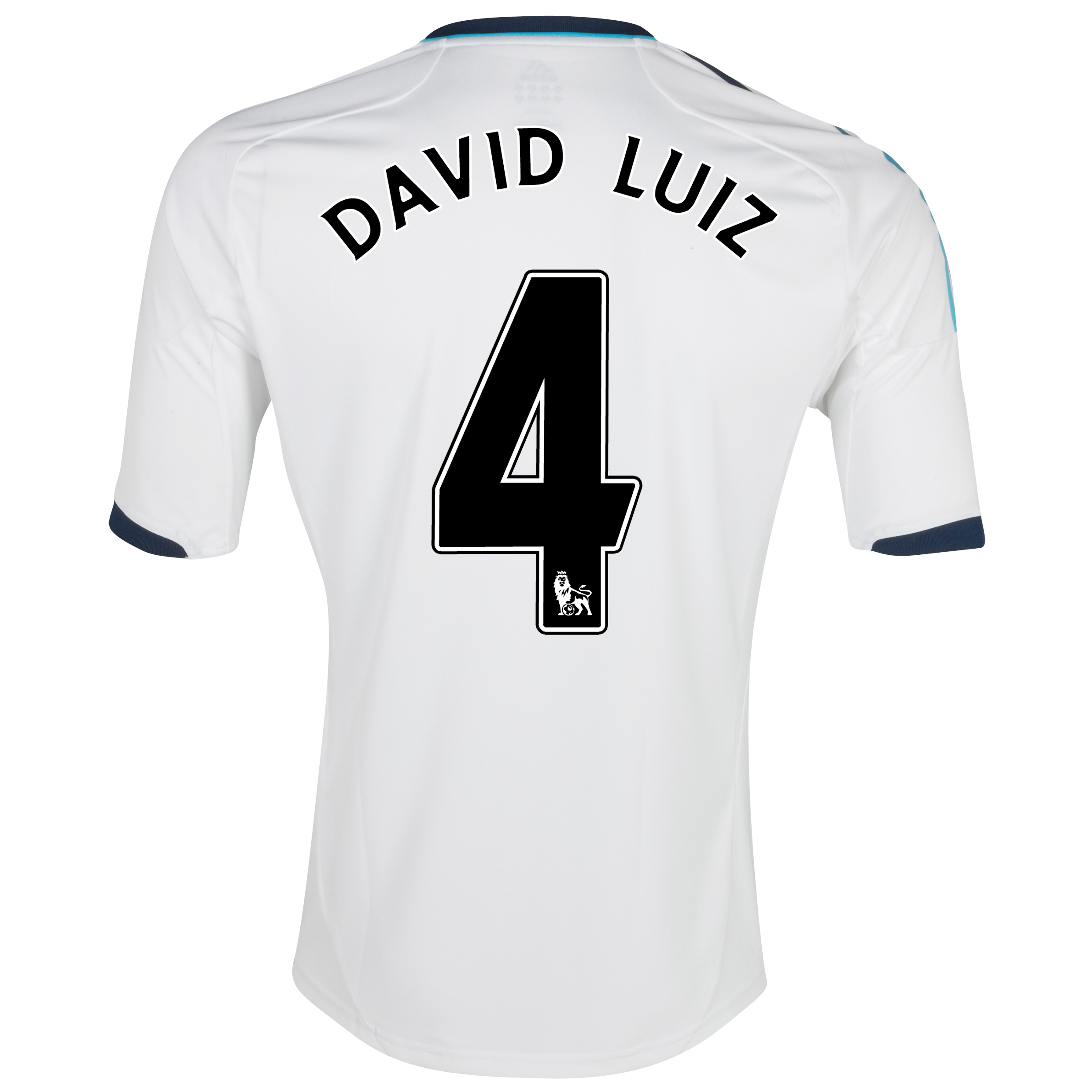 Chelsea Away Shirt 2012/13 - Kids with David Luiz 4 printing