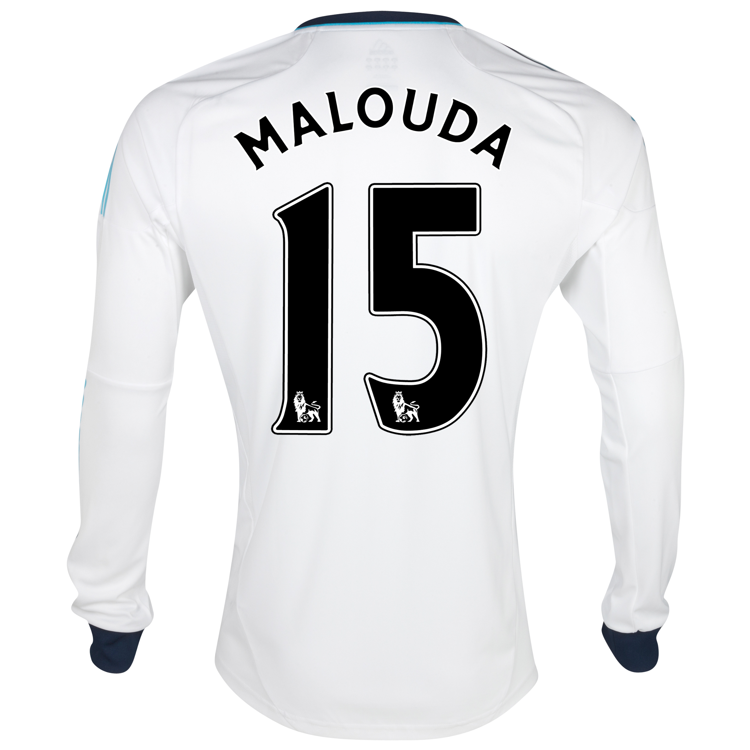 Chelsea Away Shirt 2012/13 - Long Sleeved - Kids with Malouda 15 printing