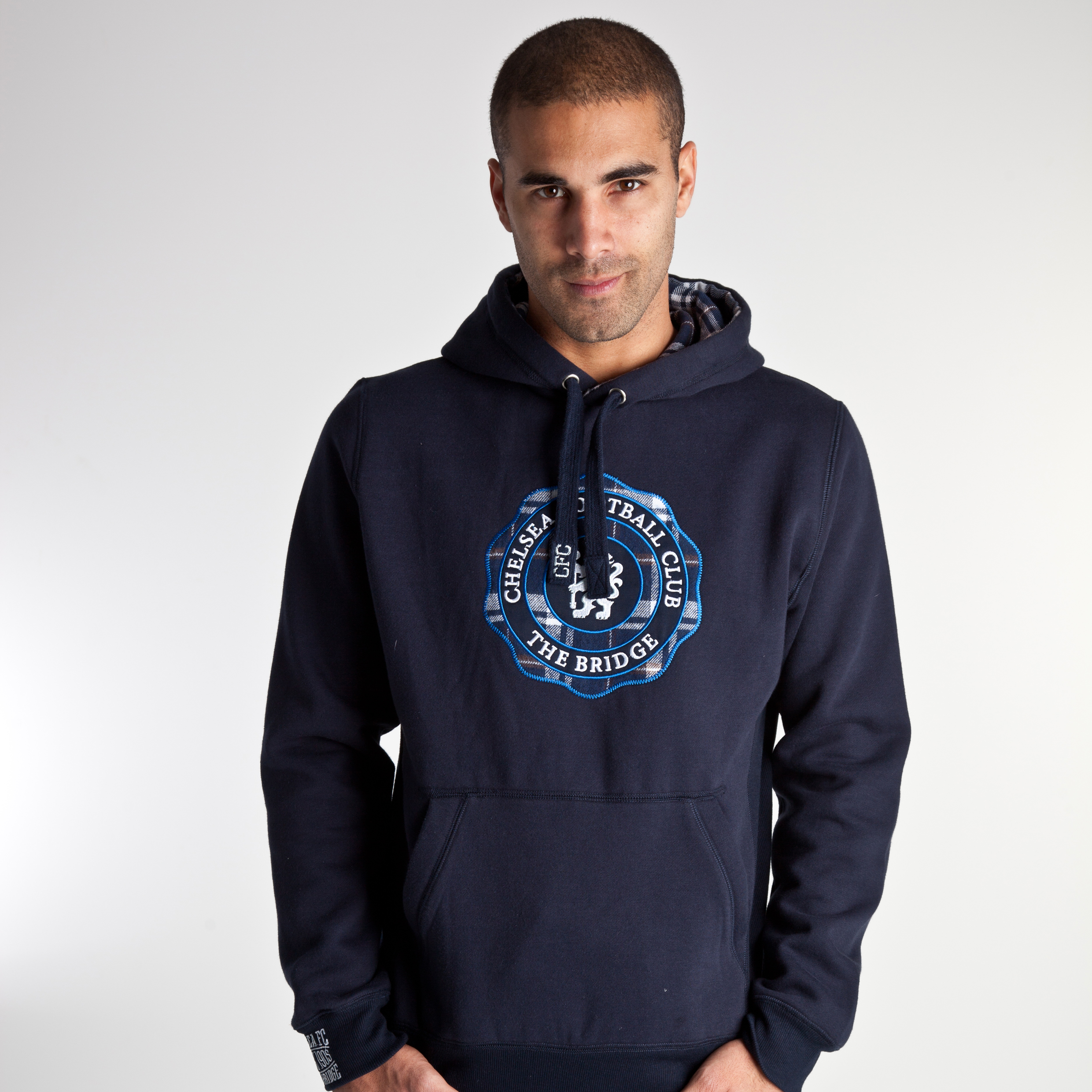 Chelsea 1905 Hoody - Navy/Light Grey