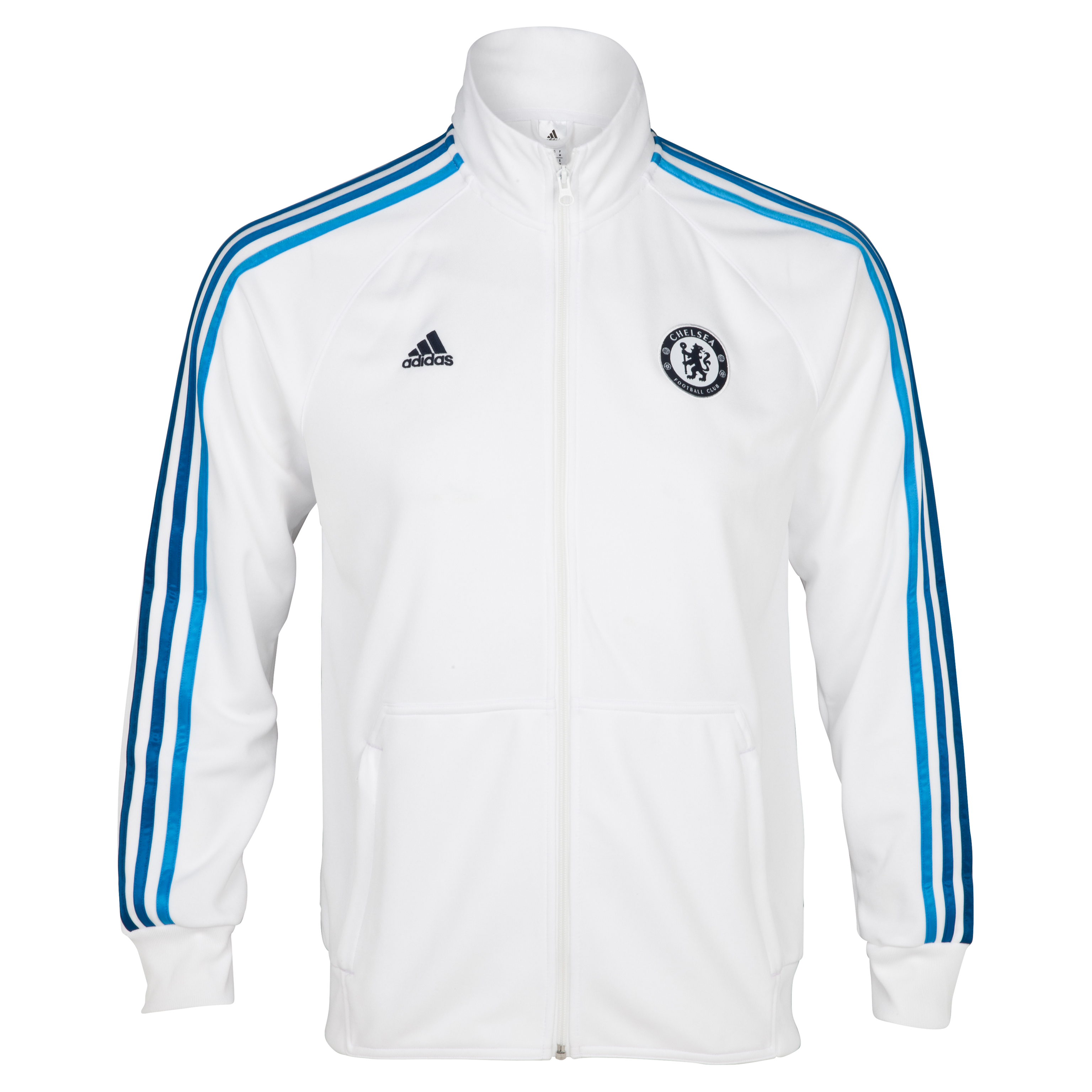 Chelsea Core Track Top - White/Cyan S09