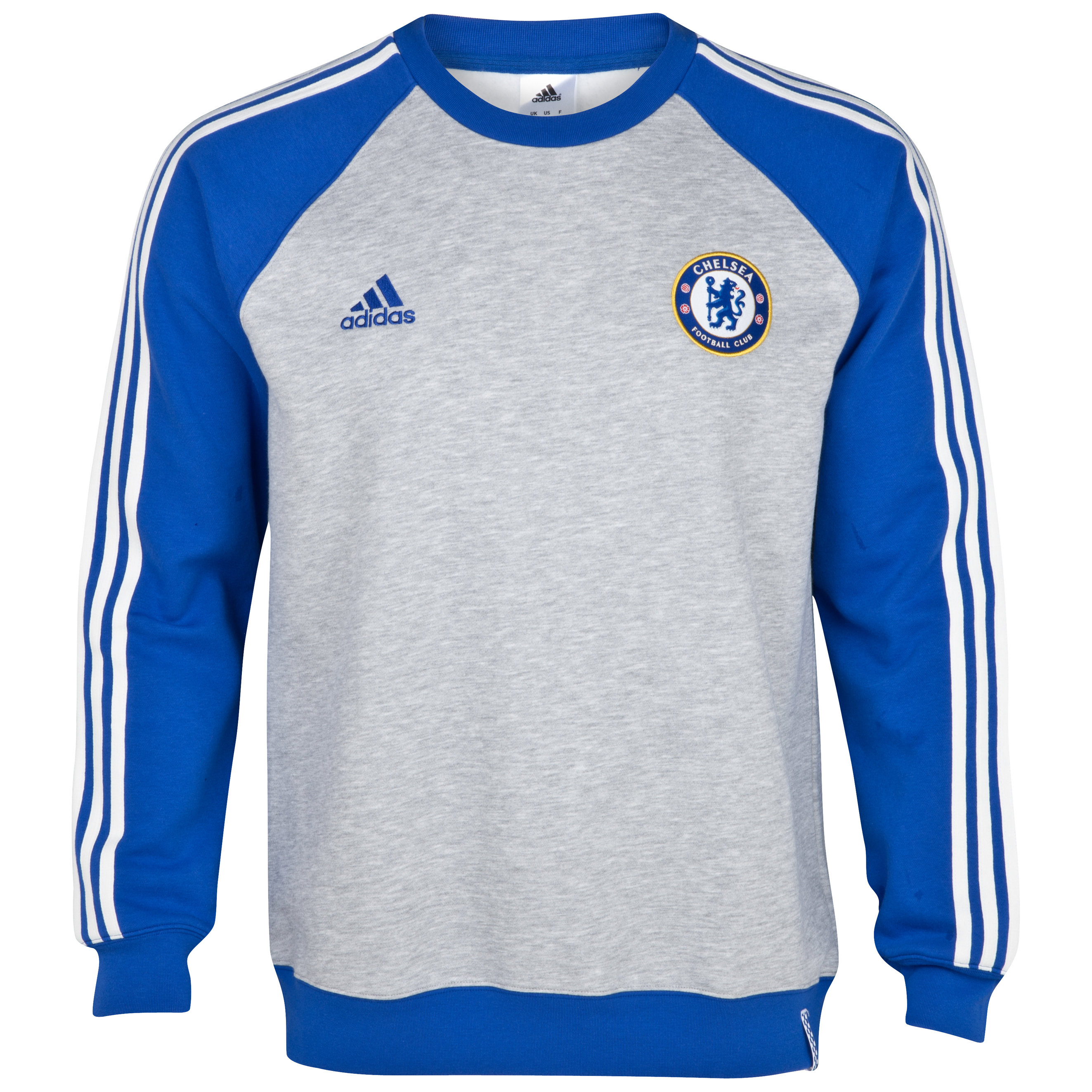 adidas Chelsea Core Sweat Top - Medium Grey Heather/Cfc Reflex Blue/White