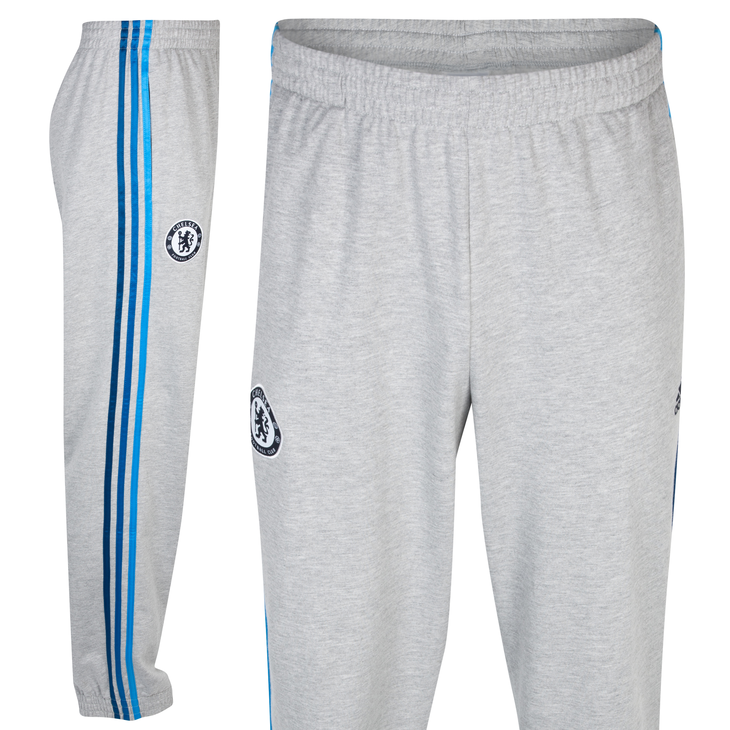 adidas Chelsea Core Cuffed Pant - Medium Grey Heather/Cyan S09