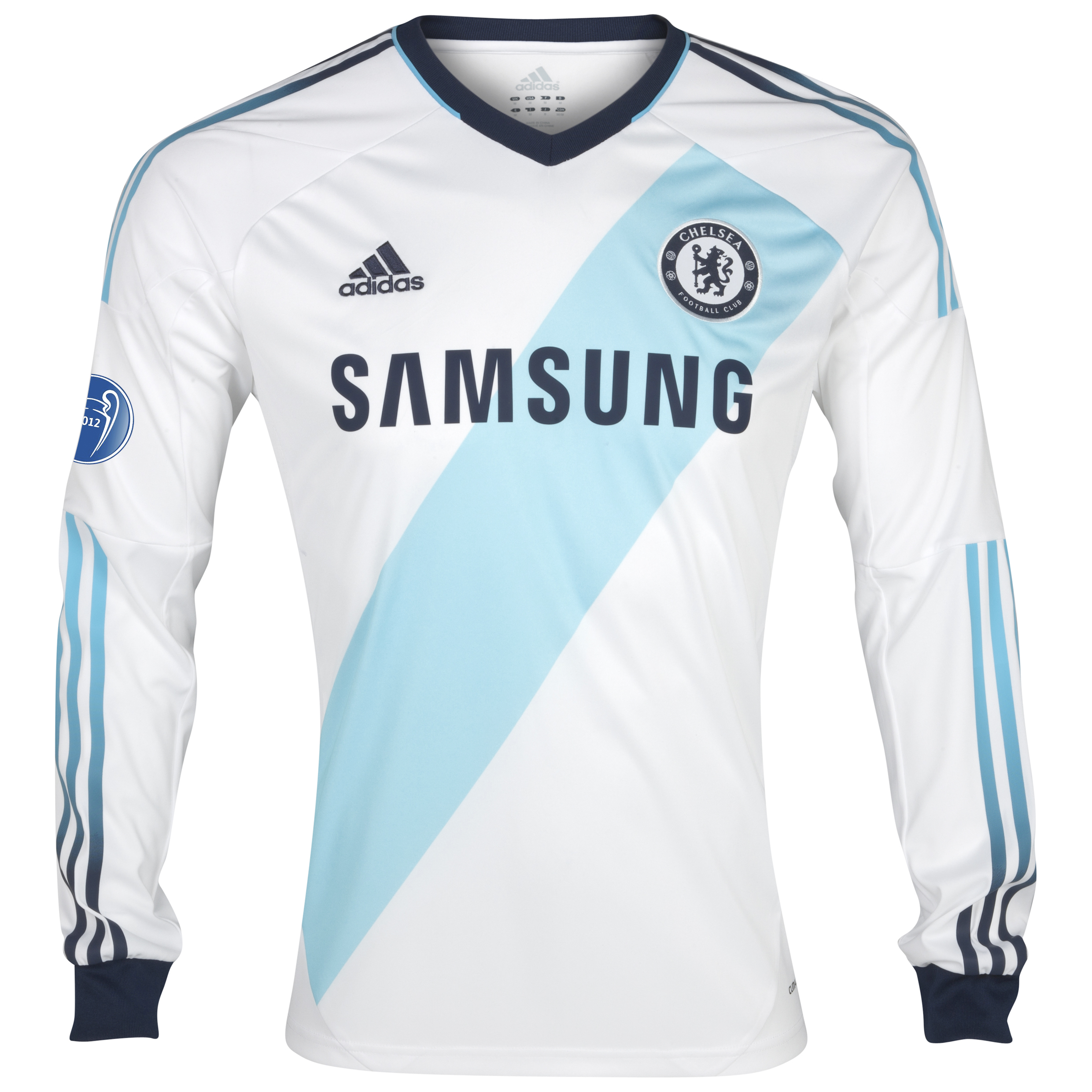 Chelsea UEFA Champions League Away Shirt 2012/13 - Long Sleeved  - Youths with Winners Badge