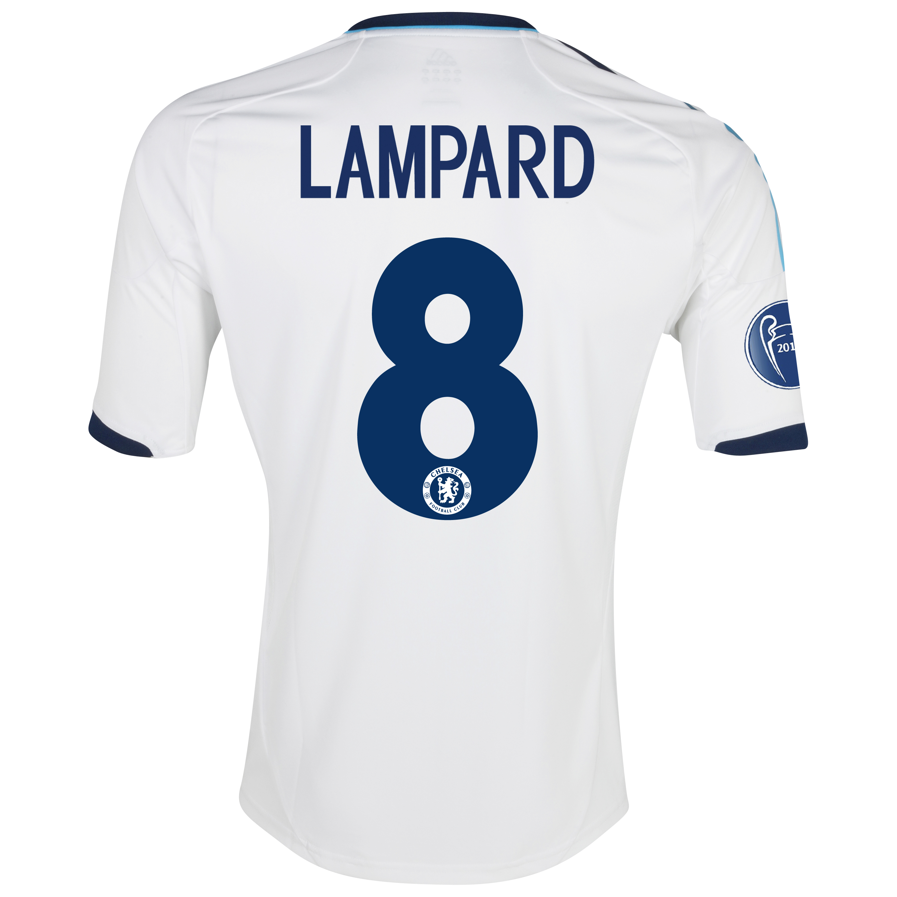 Chelsea UEFA Champions League Shirt Away Shirt 2012/13 - with Lampard 8 printing