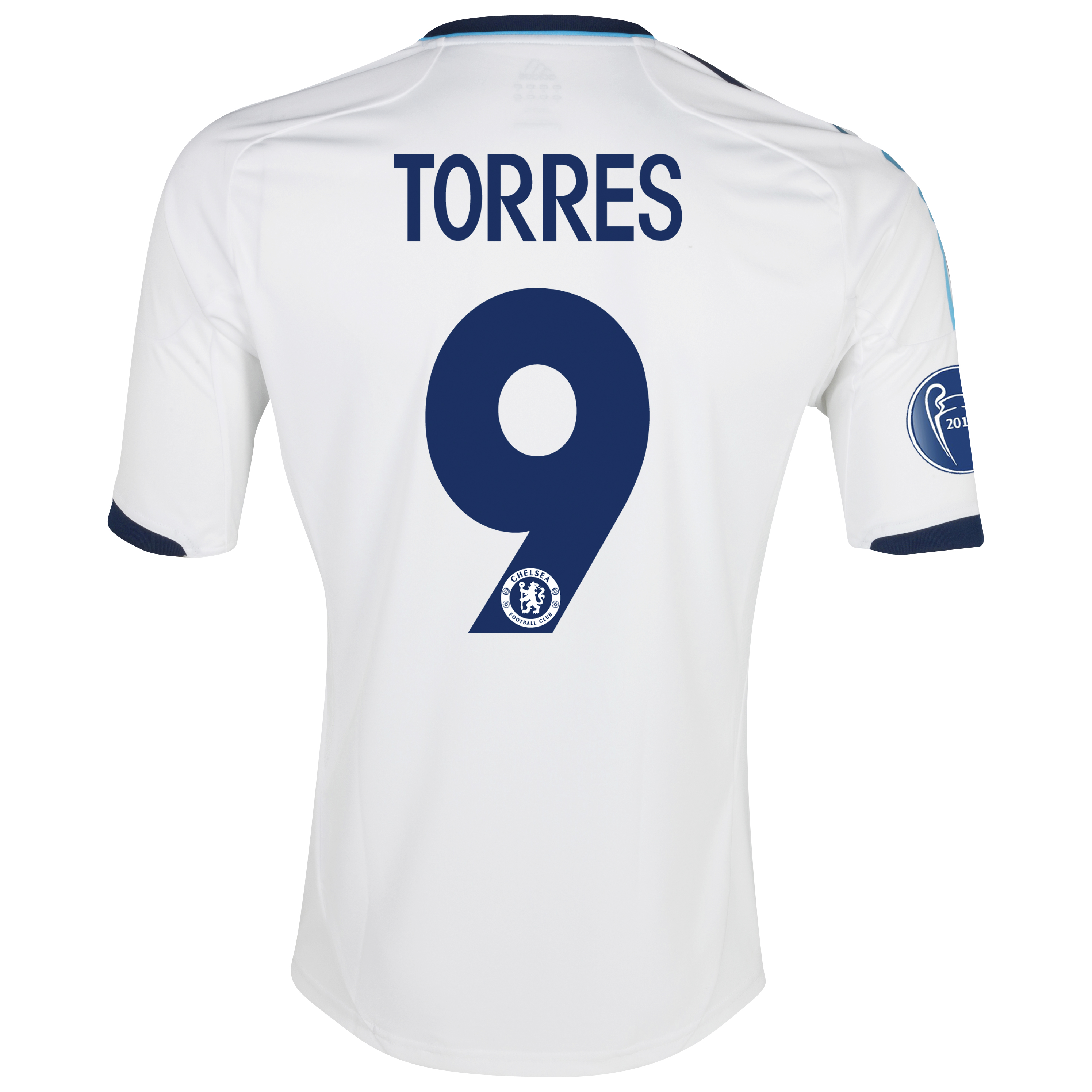 Chelsea UEFA Champions League Shirt Away Shirt 2012/13 - with Torres 9 printing