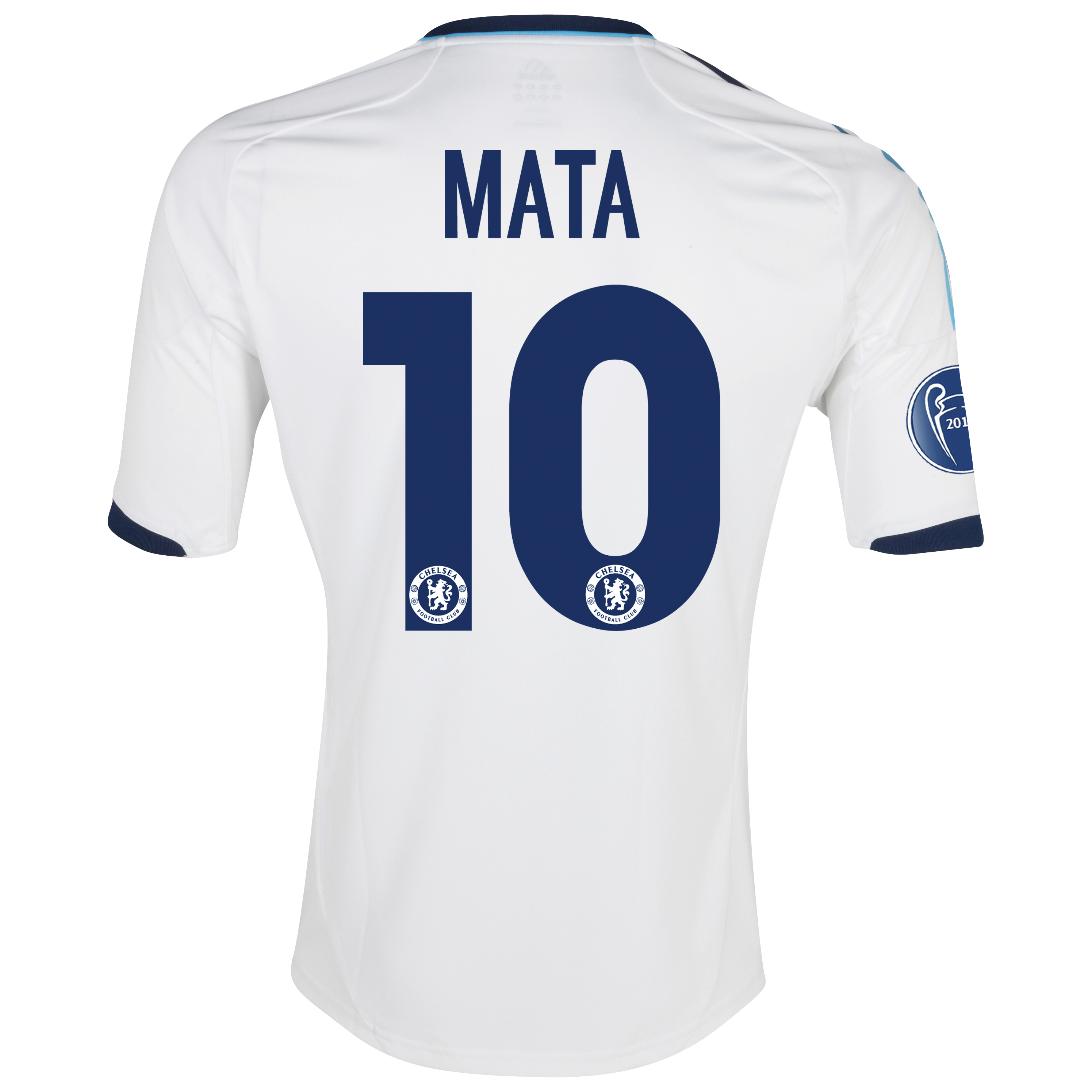Chelsea UEFA Champions League Shirt Away Shirt 2012/13 - with Mata 10 printing