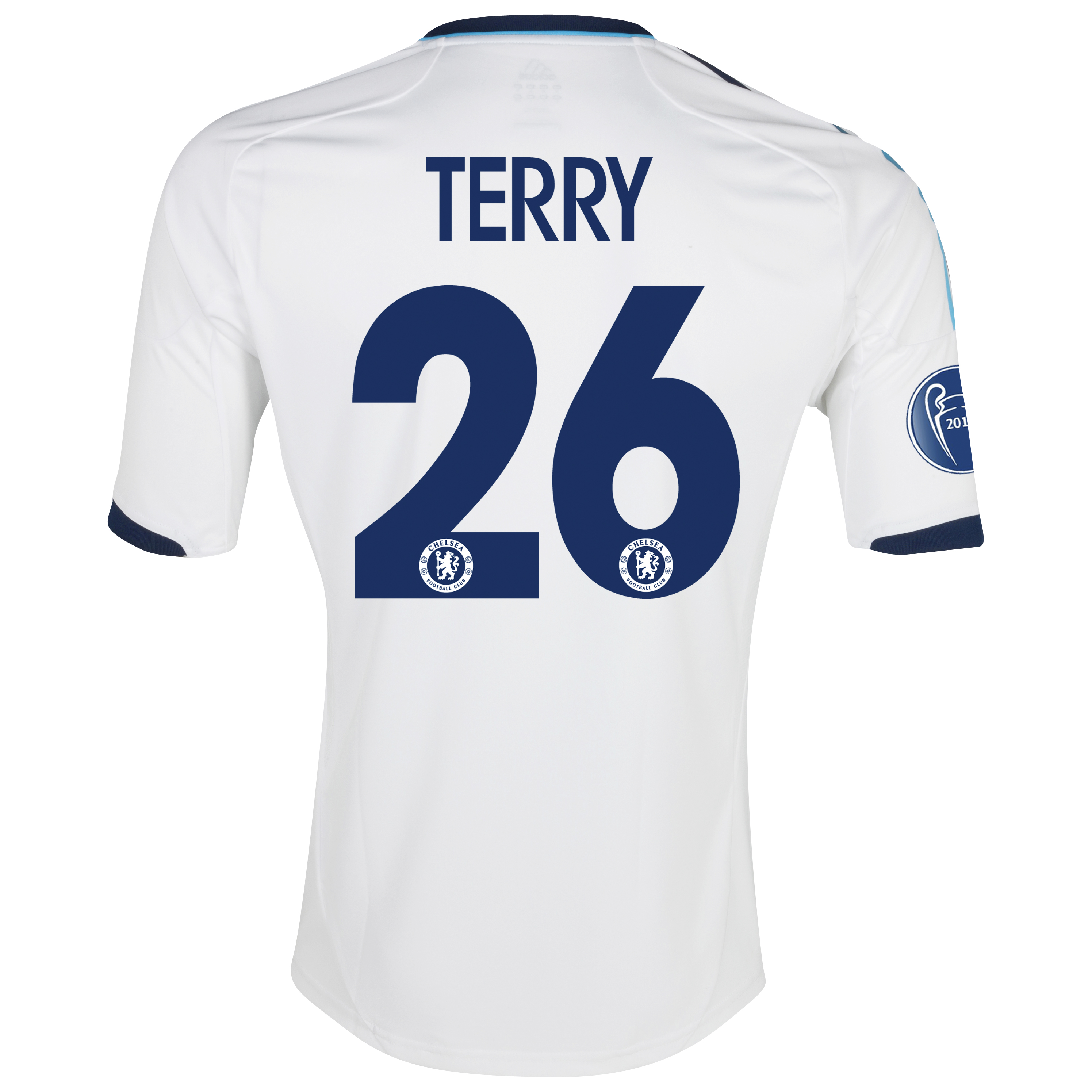 Chelsea UEFA Champions League Shirt Away Shirt 2012/13 - with Terry 26 printing