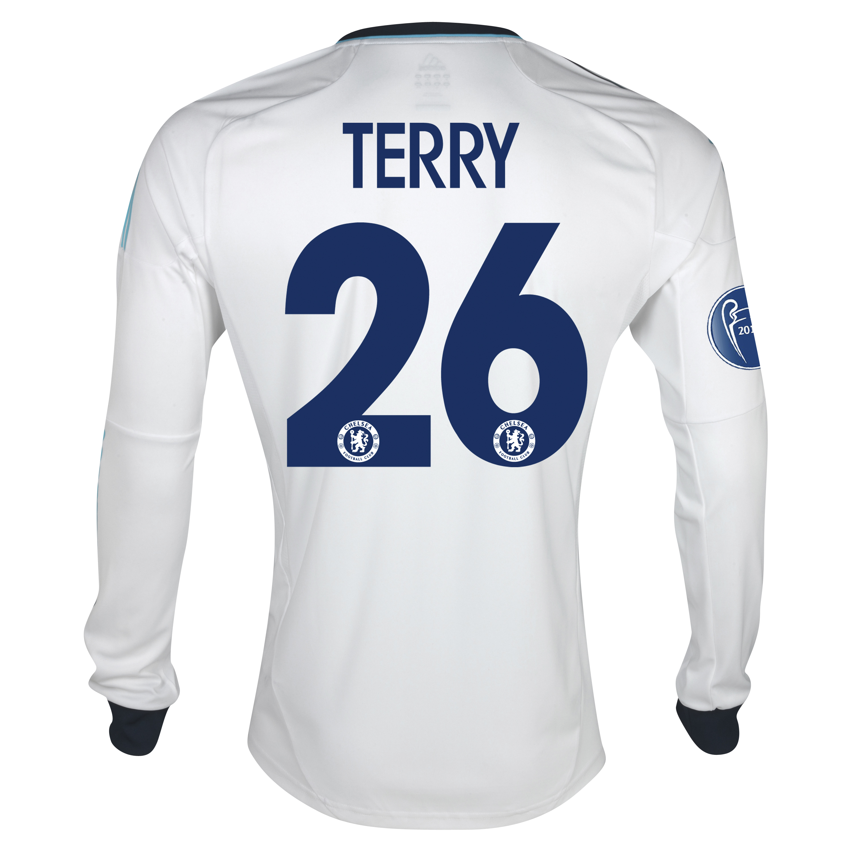Chelsea UEFA Champions League Away Shirt 2012/13 - Long Sleeved with Terry 26 printing