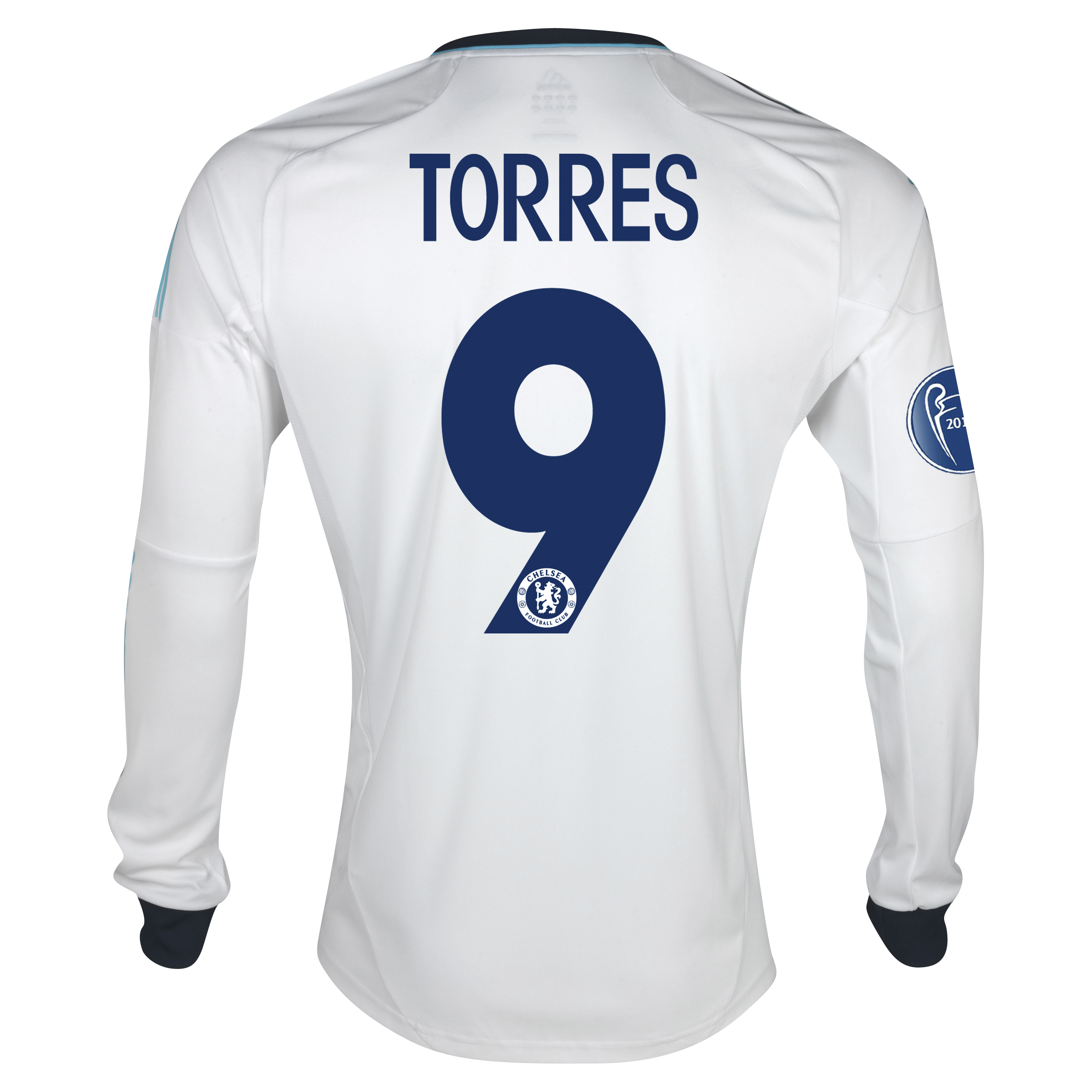 Chelsea UEFA Champions League Away Shirt 2012/13 - Long Sleeved - Kids with Torres 9 printing