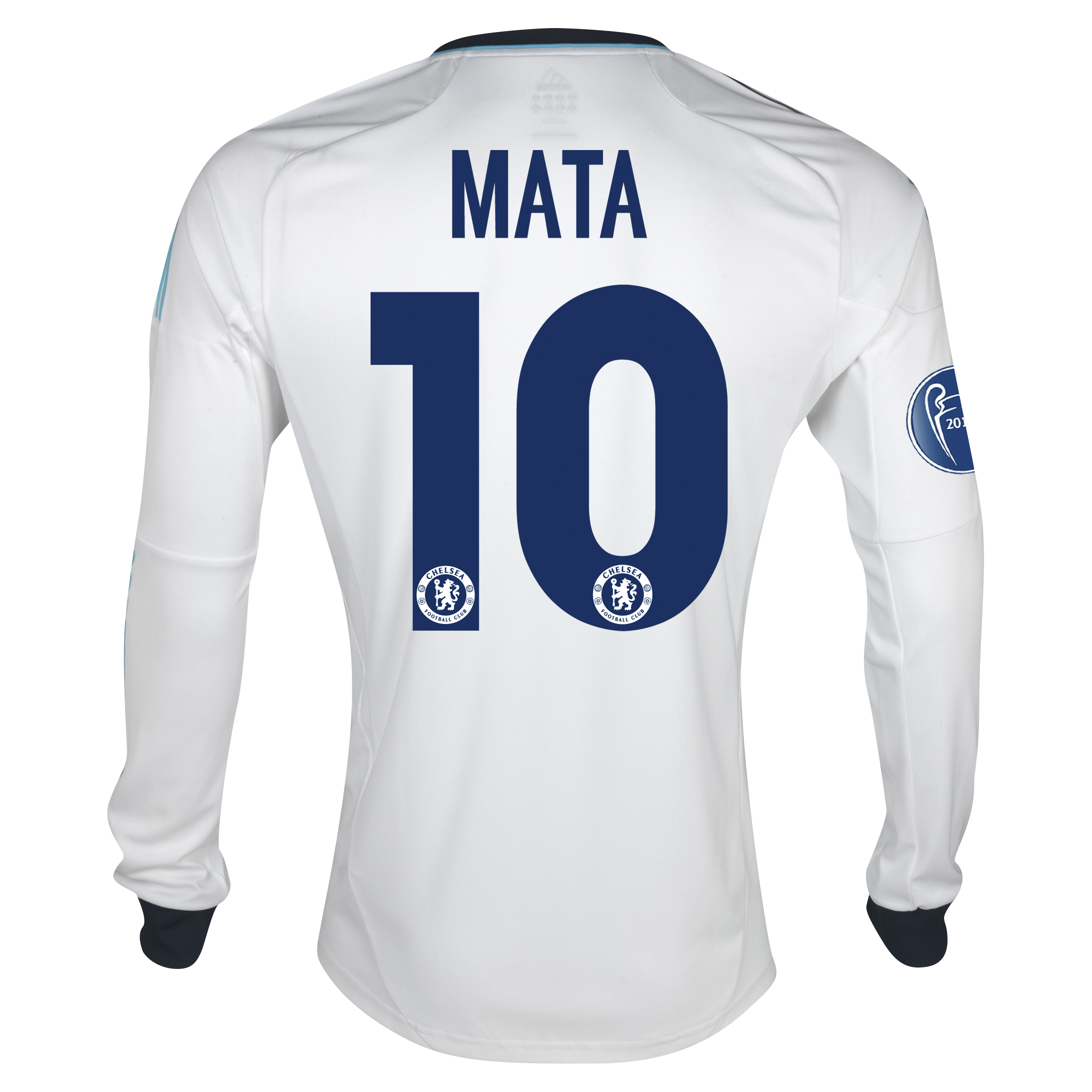 Chelsea UEFA Champions League Away Shirt 2012/13 - Long Sleeved - Kids with Mata 10 printing