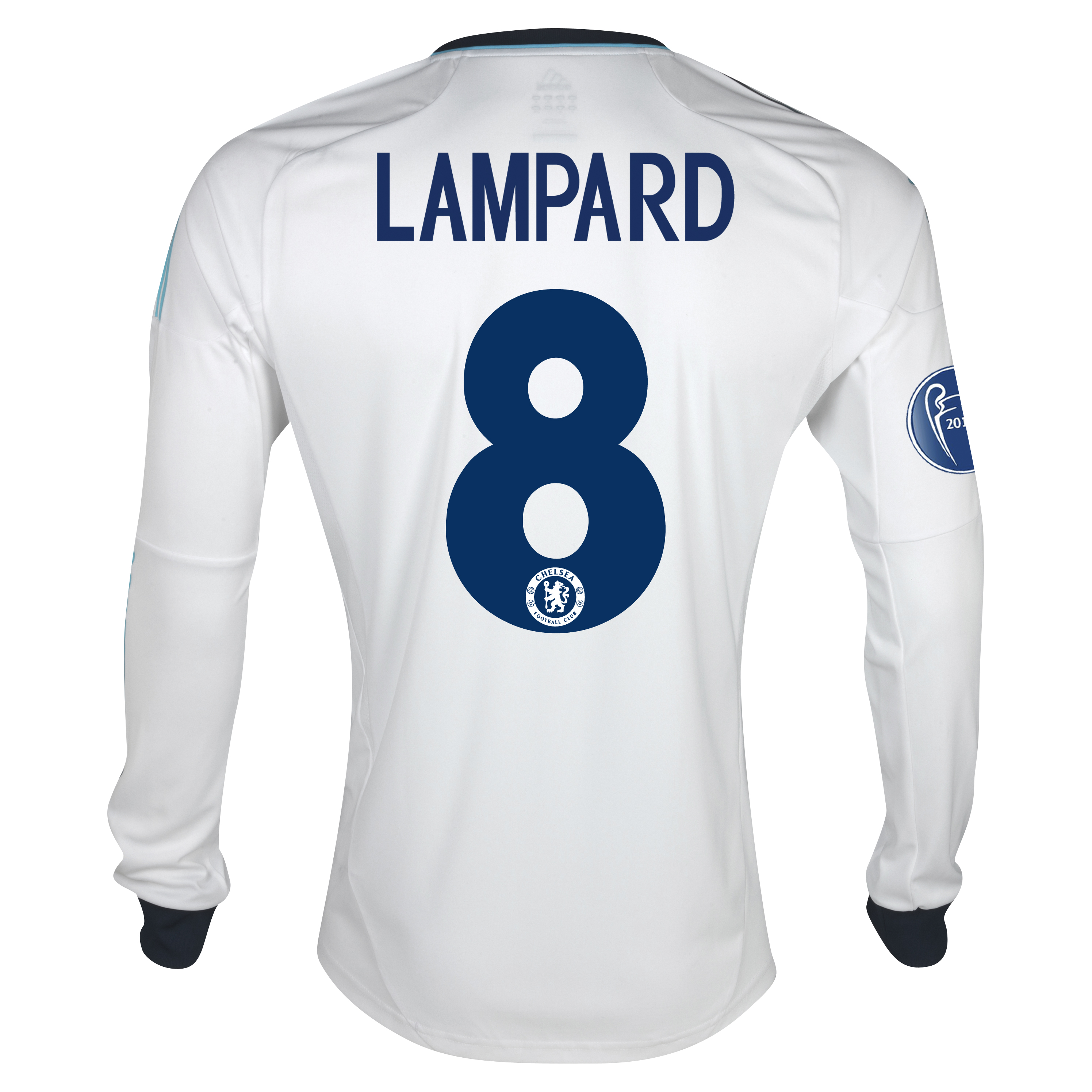Chelsea UEFA Champions League Away Shirt 2012/13 - Long Sleeved  - Youths with Lampard 8 printing