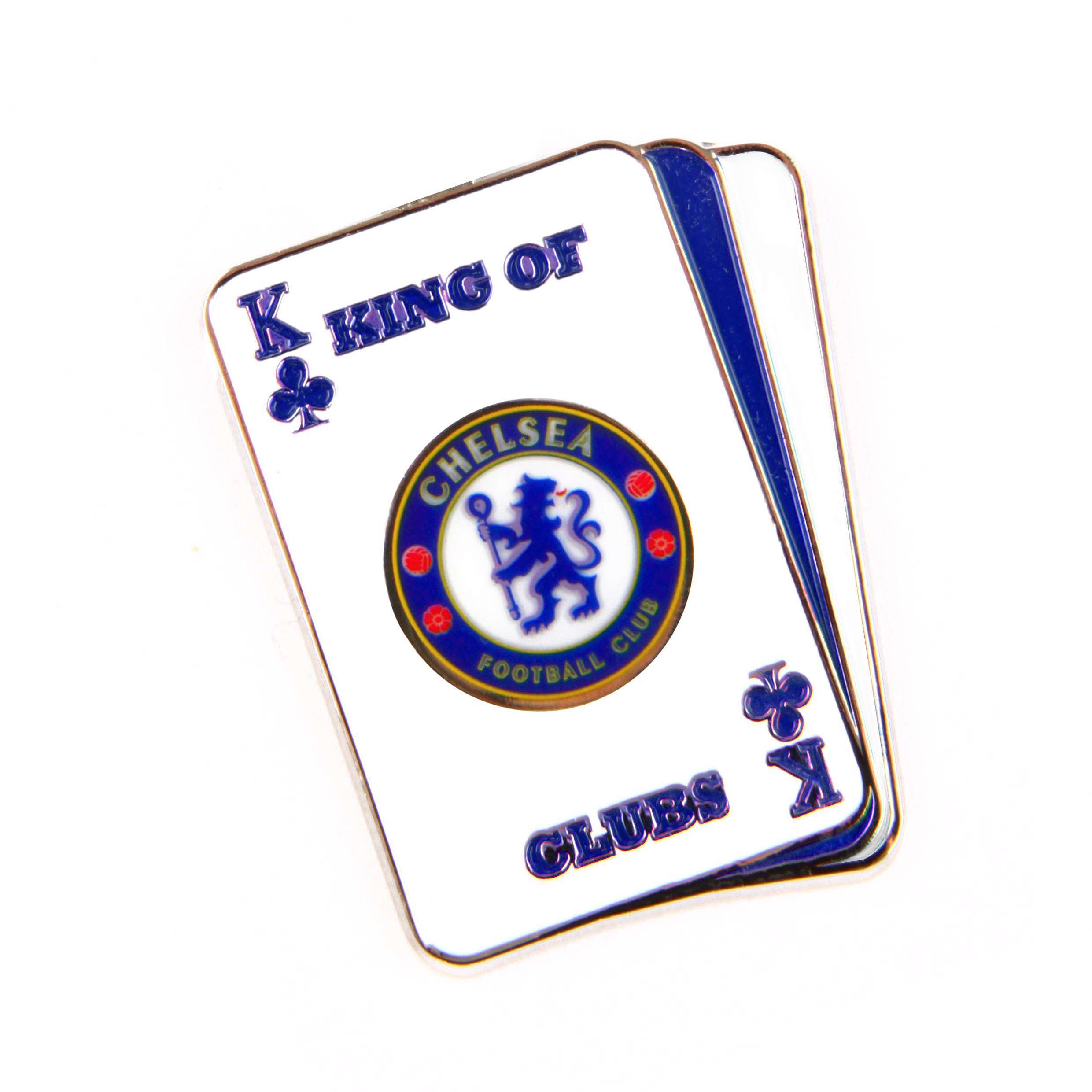 Chelsea King of Clubs Playing Card Badge