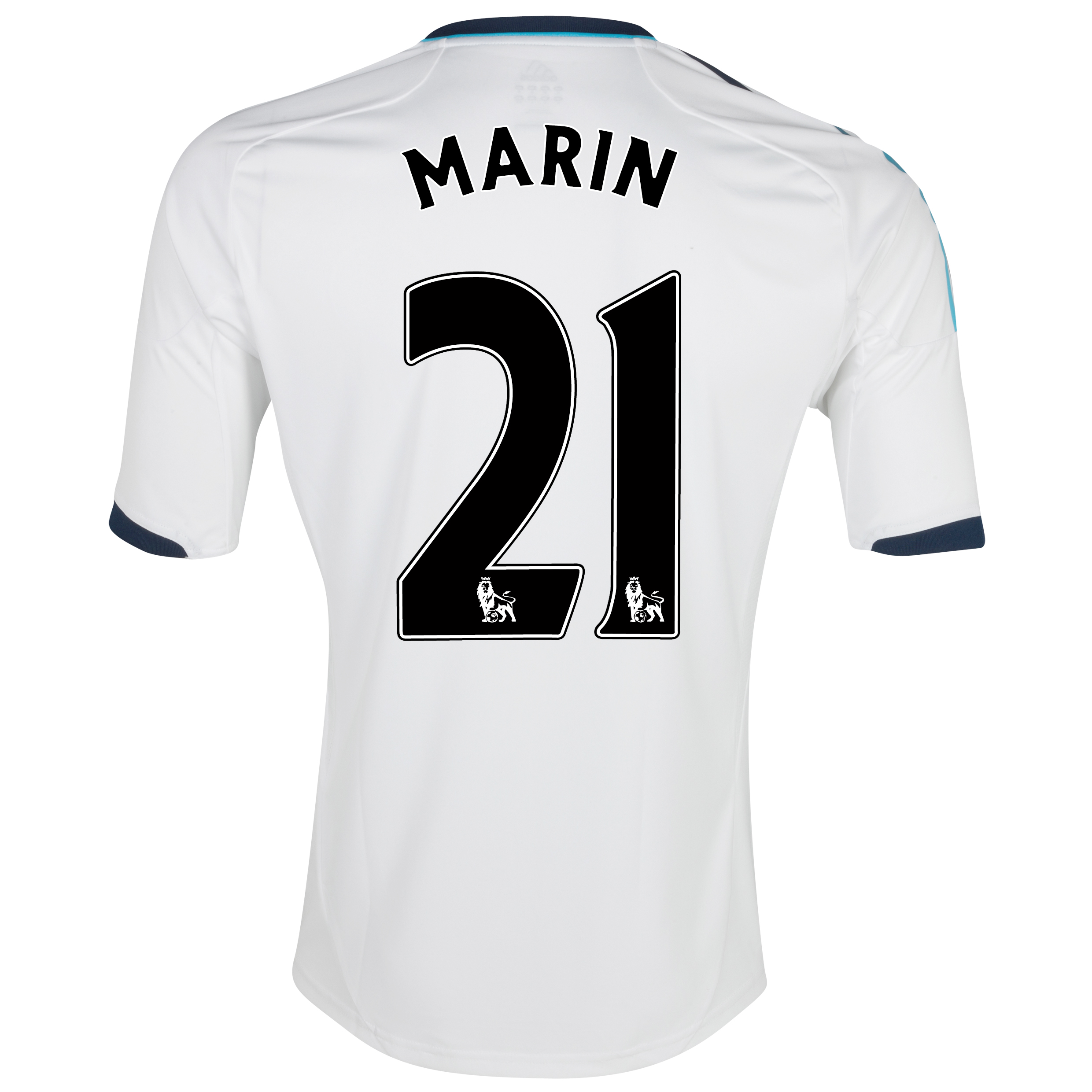Chelsea Away Shirt 2012/13 with Marin 21 printing