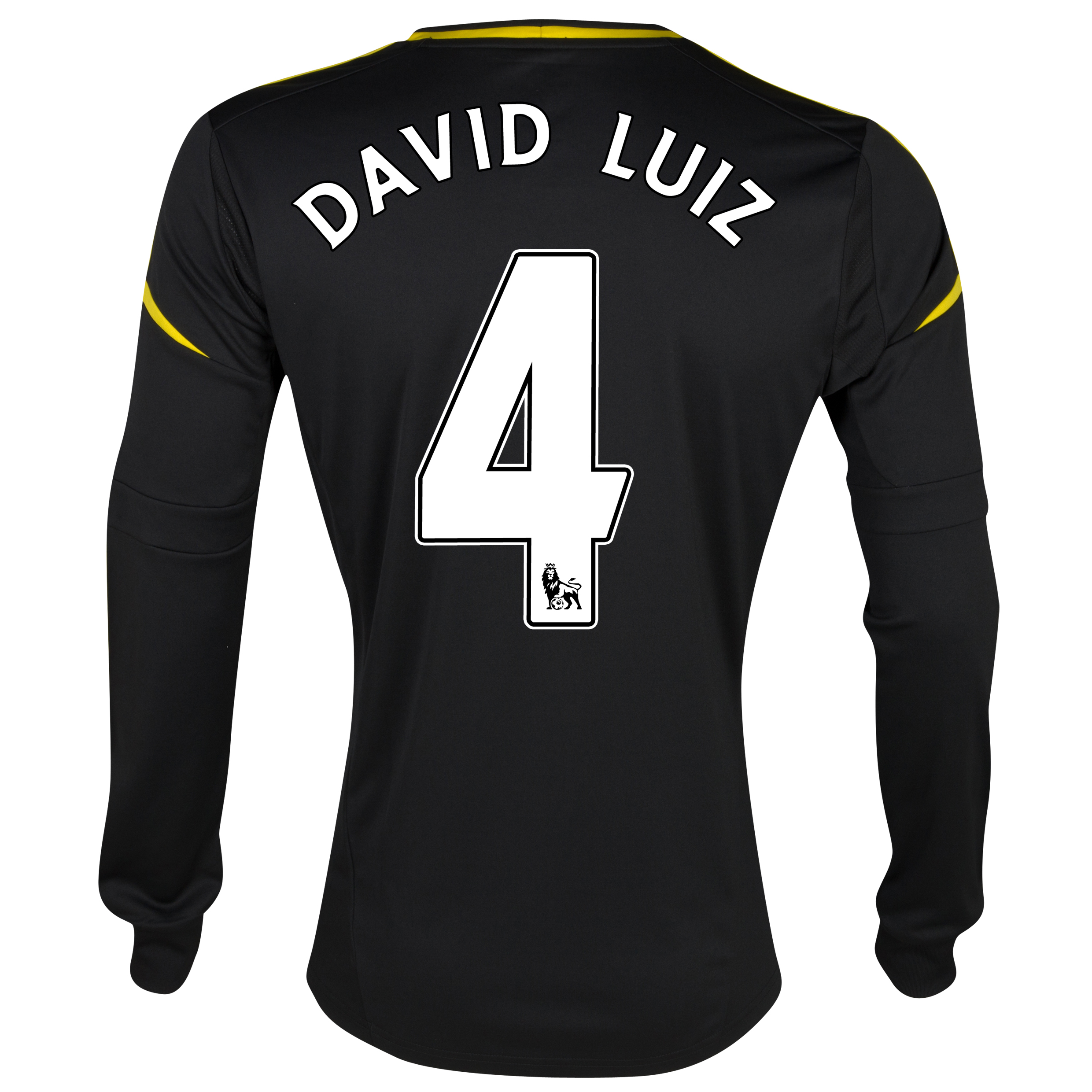 Chelsea Third Shirt 2012/13 - Long Sleeved with David Luiz 4 printing