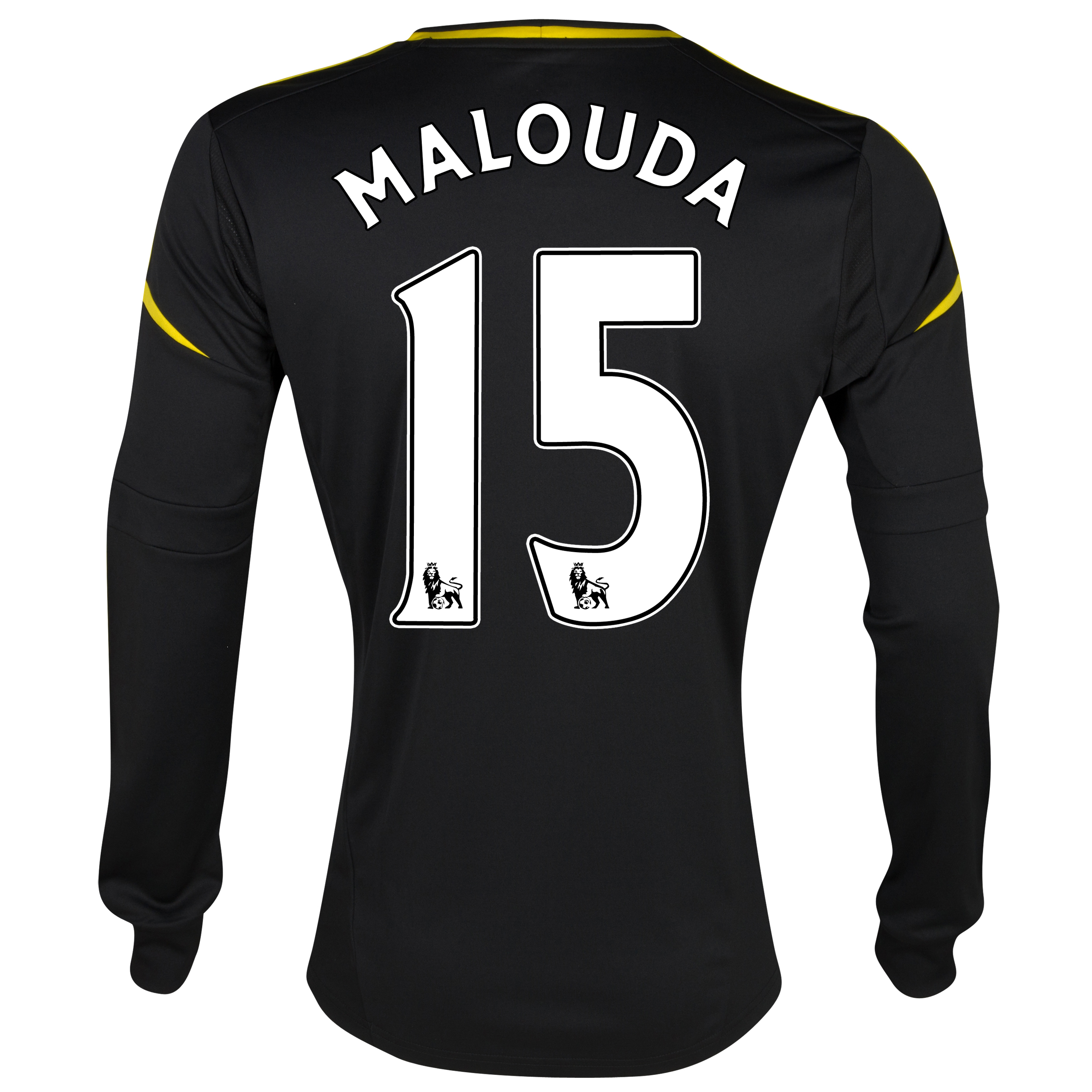 Chelsea Third Shirt 2012/13 - Long Sleeved - Kids with Malouda 15 printing