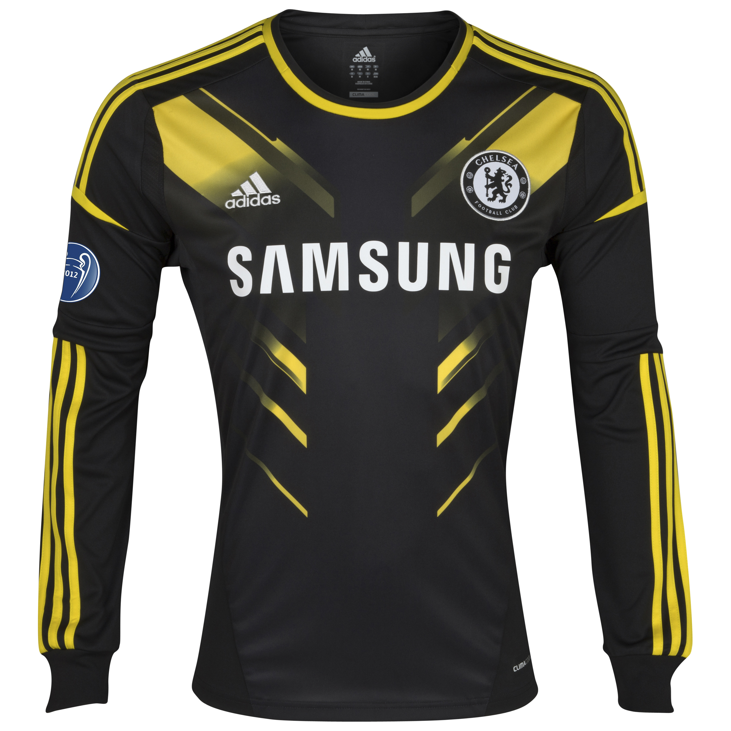 Chelsea UEFA Champions League Third Shirt 2012/13 - Long Sleeved with Winners Badge