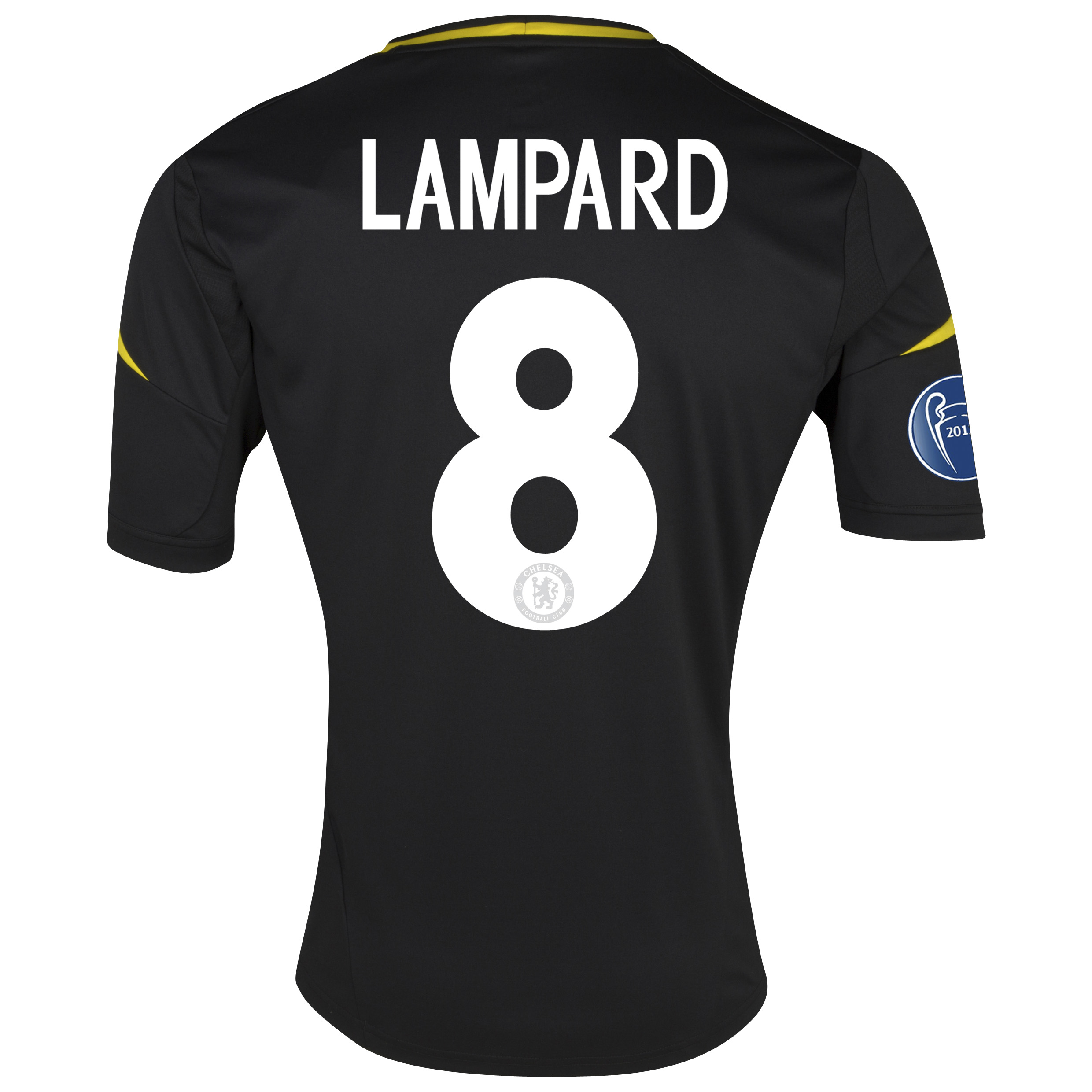 Chelsea UEFA Champions League Third Shirt 2012/13 with Lampard 8 printing