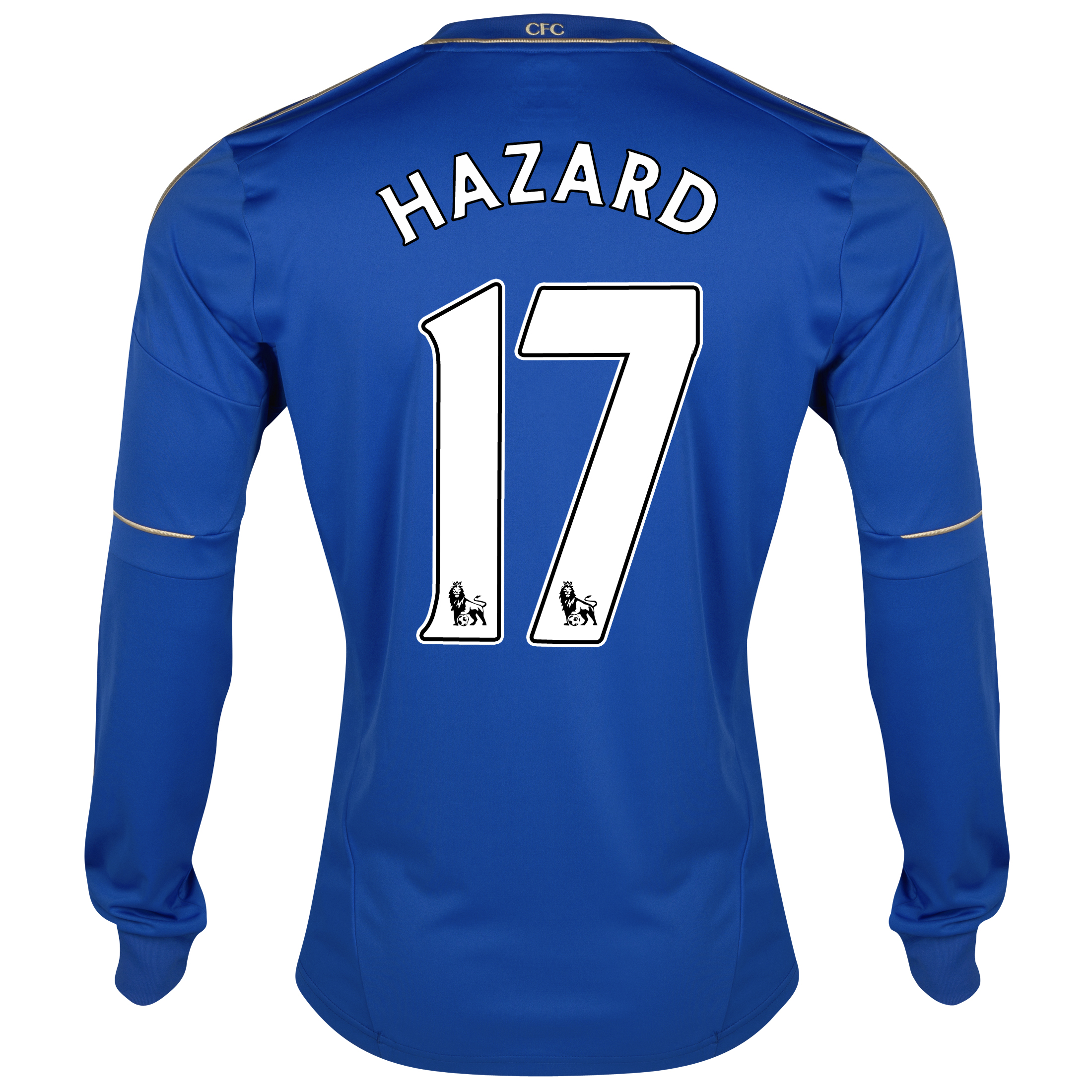 Chelsea Home Shirt 2012/13 - Long Sleeved with Hazard 17 printing