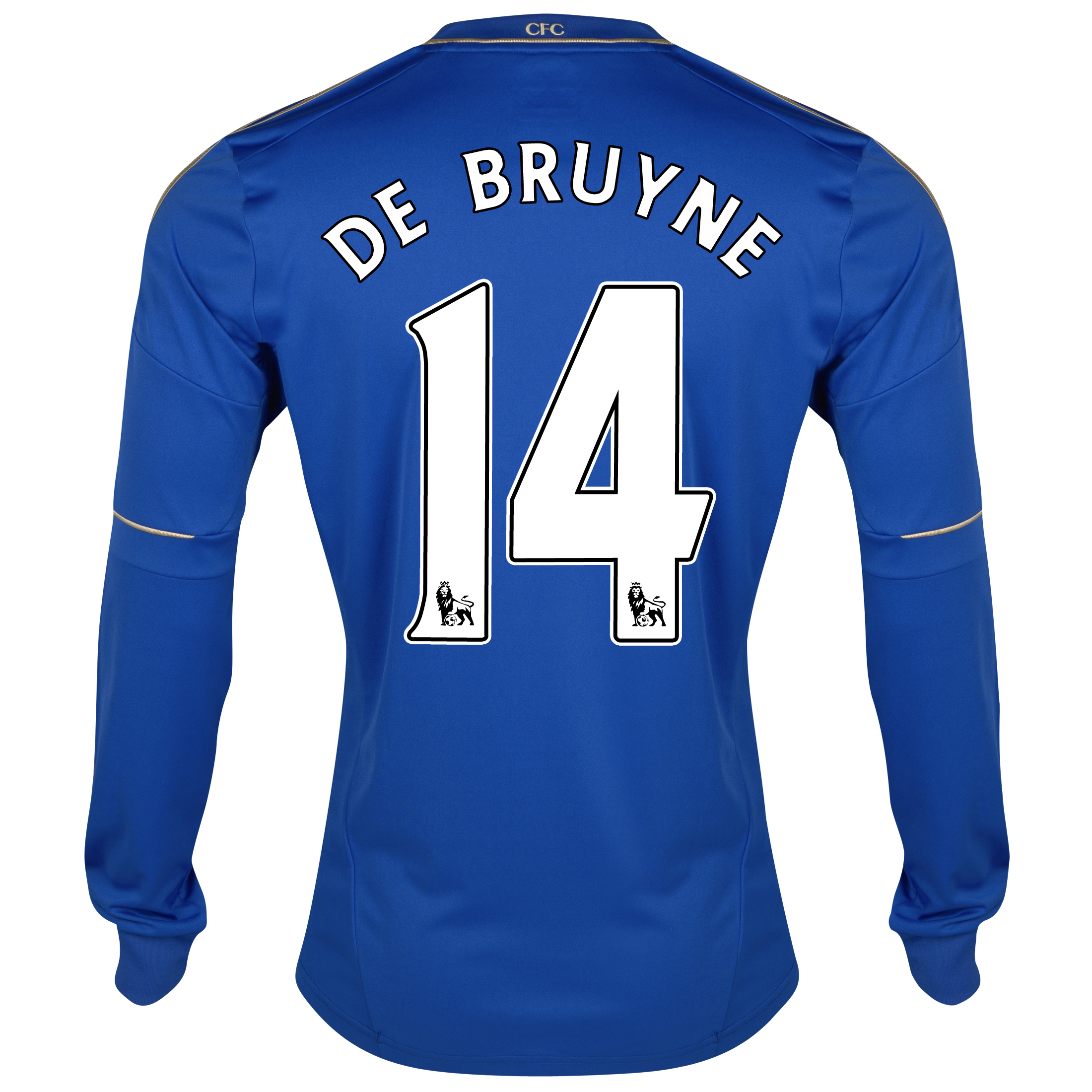 Chelsea Home Shirt 2012/13 - Long Sleeved - Youths with De Bruyne 14 printing