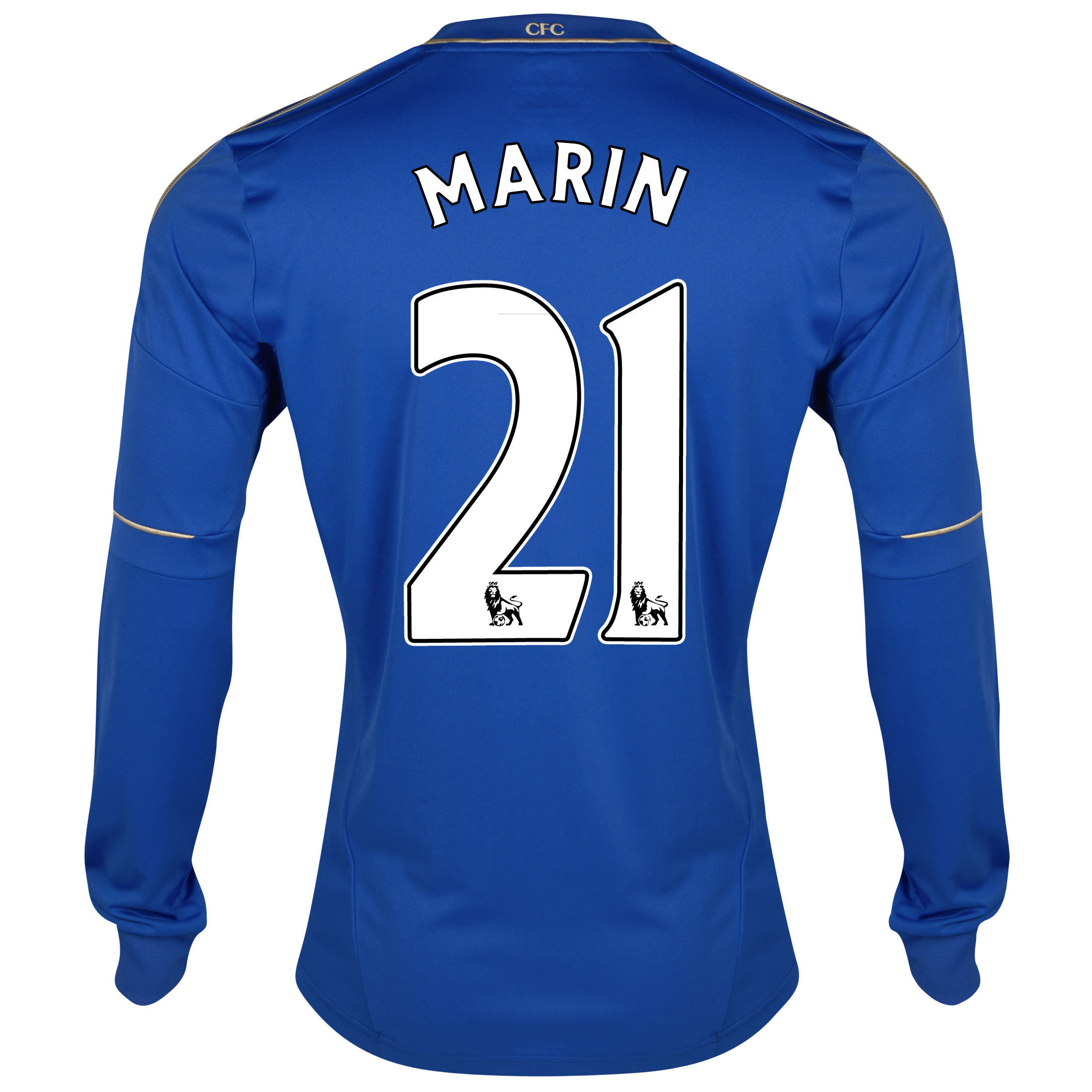 Chelsea Home Shirt 2012/13 - Long Sleeved - Youths with Marin 21 printing