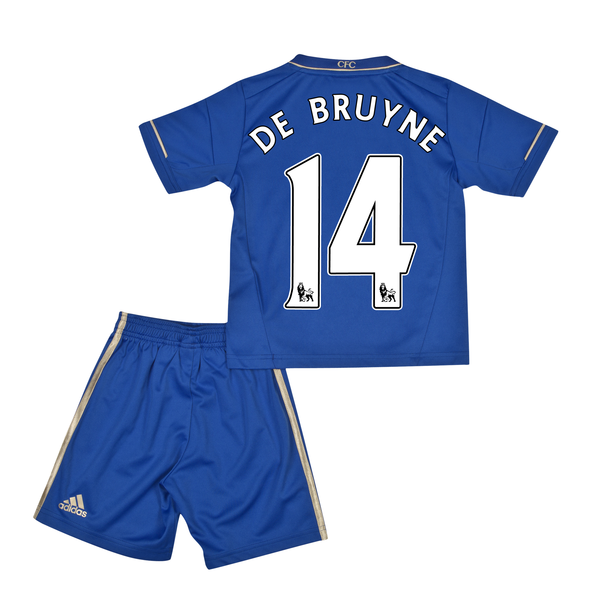 Chelsea Home Mini Kit 2012/13 with De Bruyne 14 printing