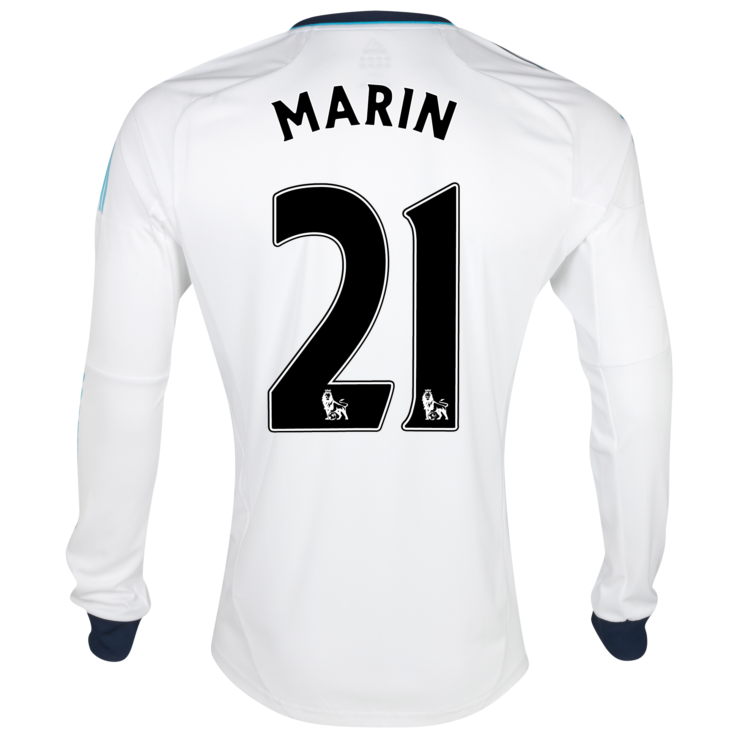 Chelsea Away Shirt 2012/13 - Long Sleeved - Kids with Marin 21 printing