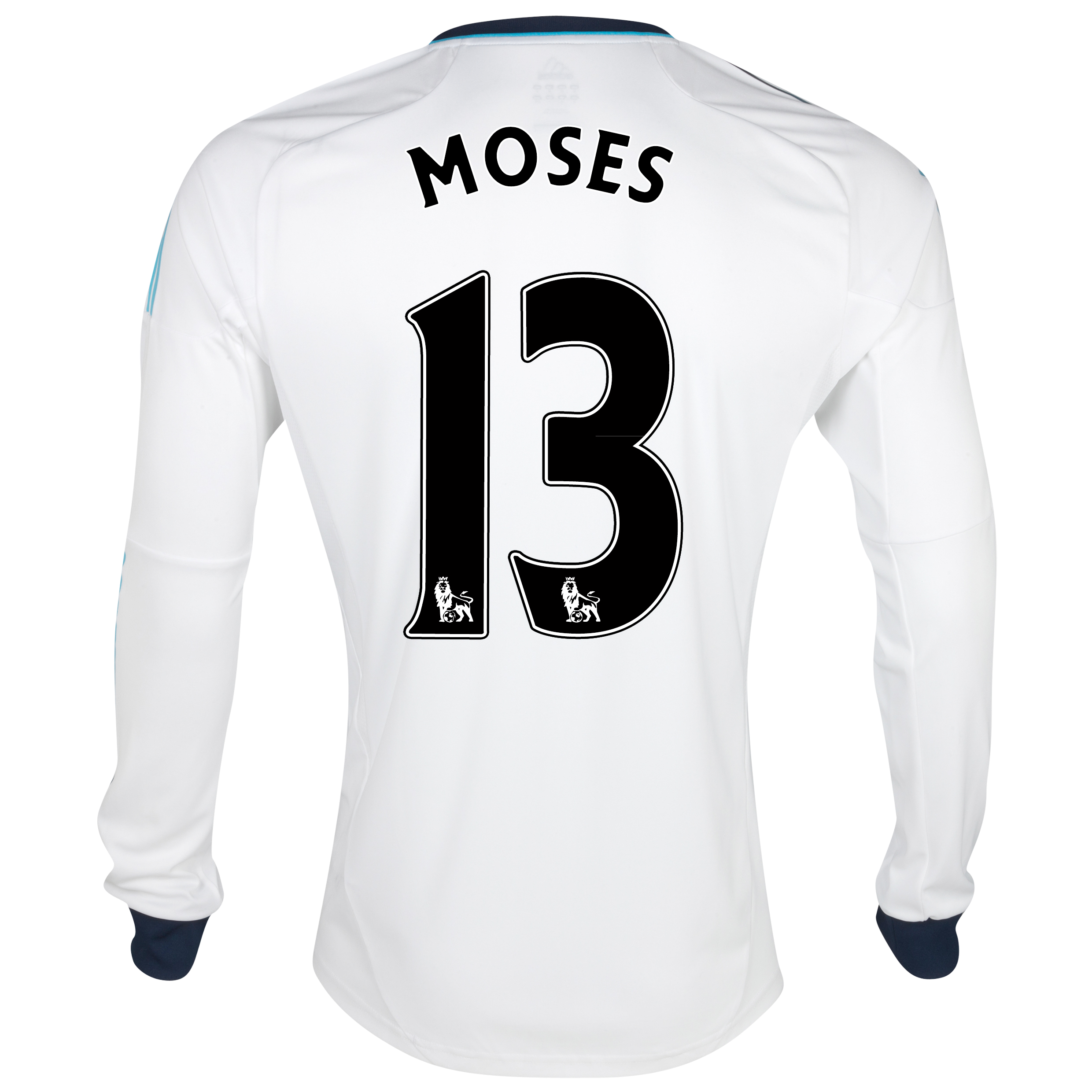 Chelsea Away Shirt 2012/13 - Long Sleeved  - Youths with Moses 13 printing