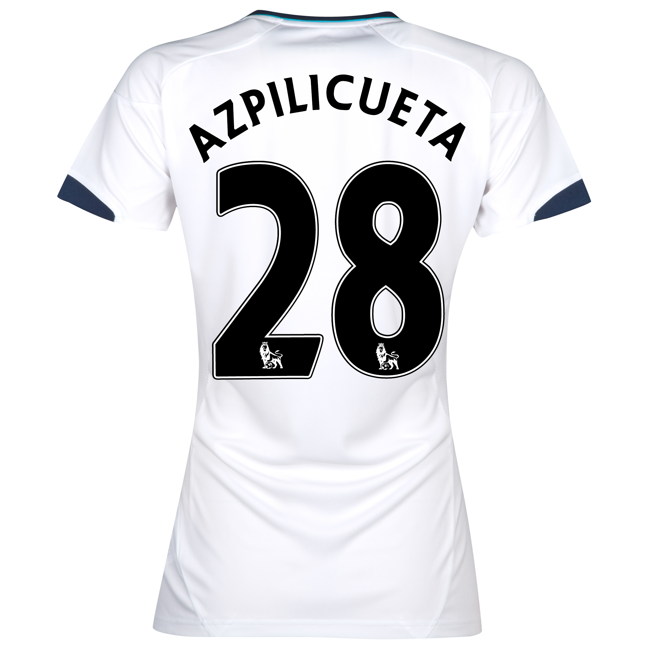 Chelsea Away Shirt 2012/13 - Womens with Azpilicueta 28 printing