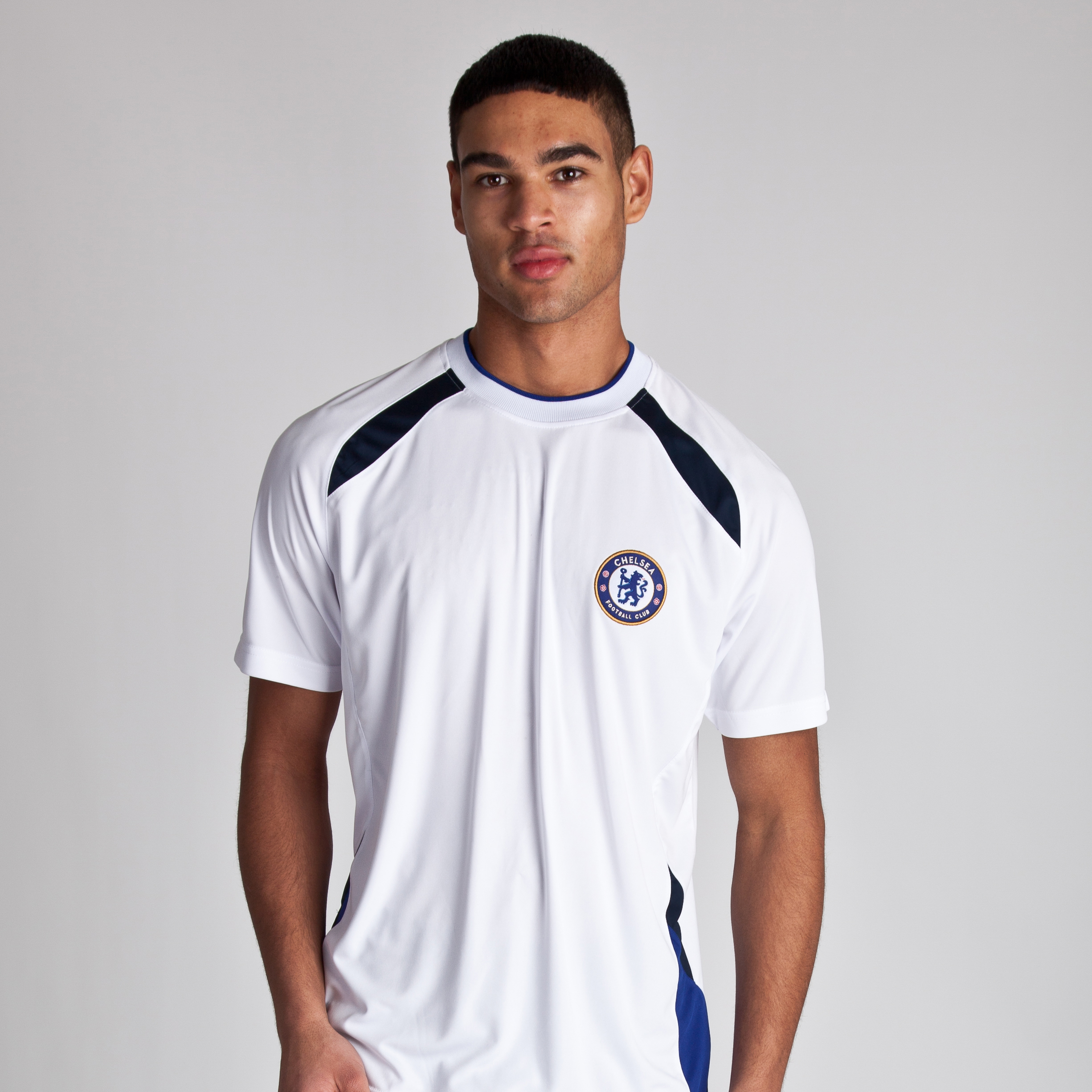 Chelsea Basic Poly Panel T-Shirt - White